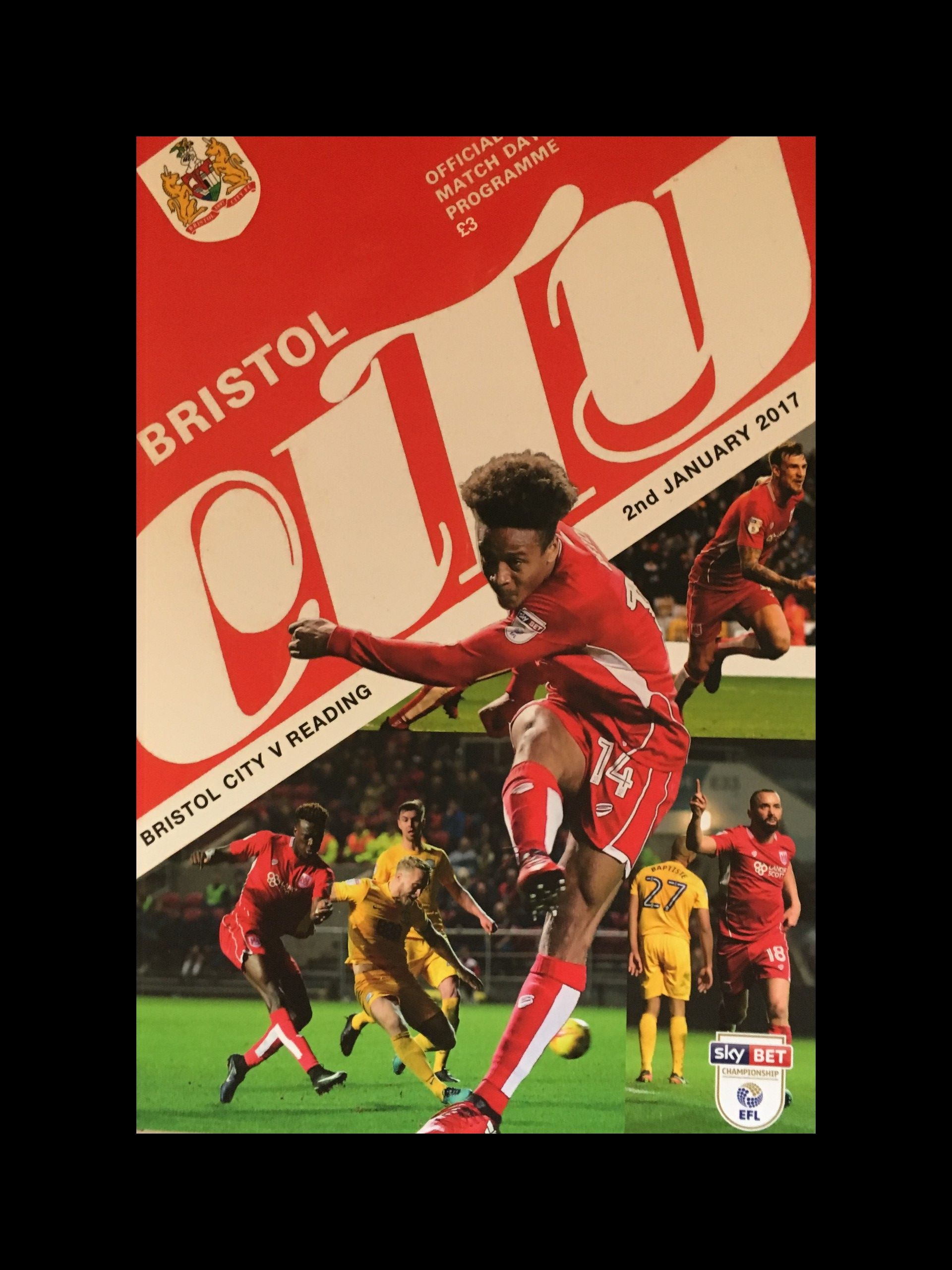 Bristol City v Reading 02-01-2017 Programme