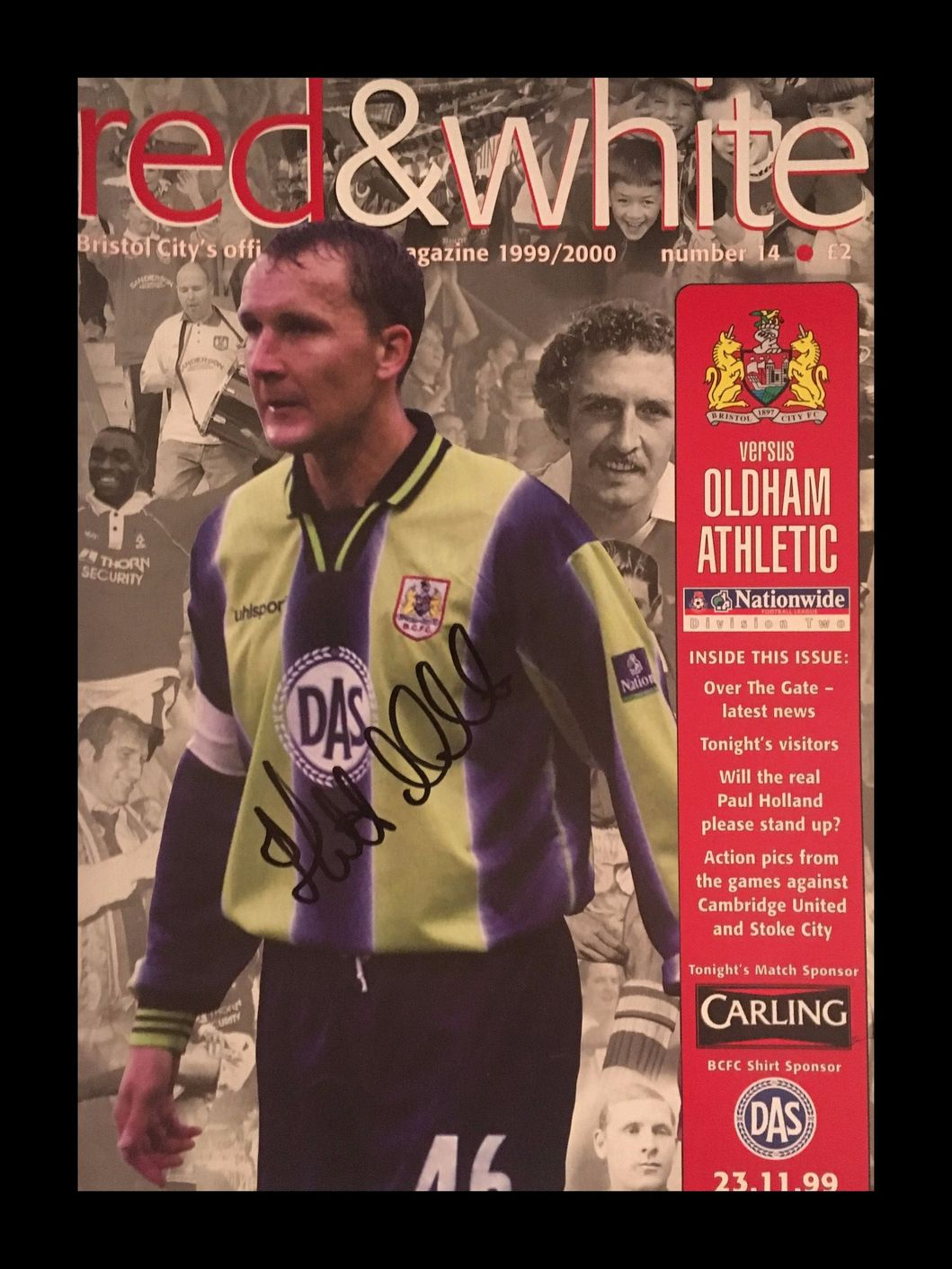 Bristol City v Oldham Athletic 23-11-1999 Programme