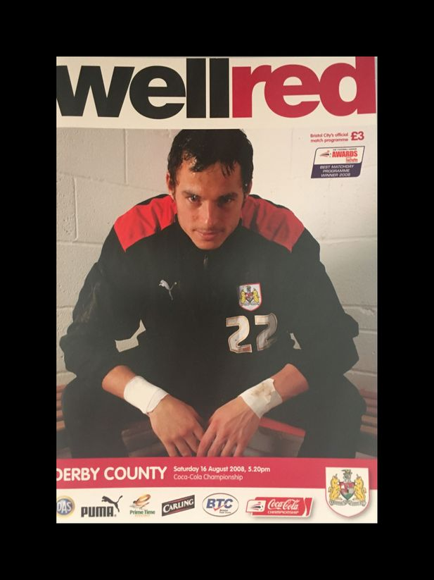 Bristol City v Derby County 16-08-2008 Programme