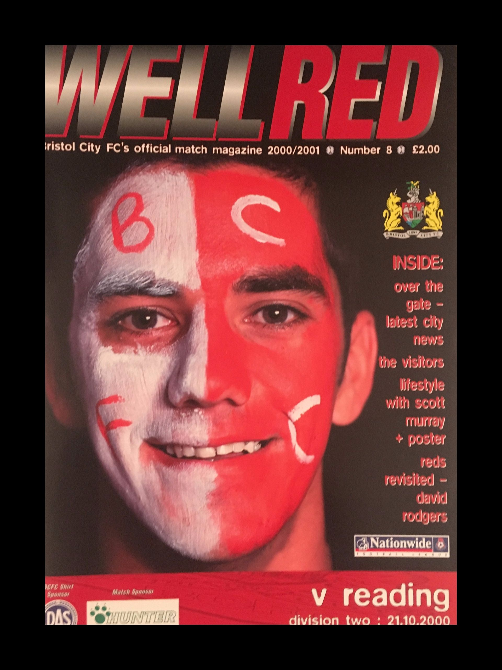 Bristol City v Reading 21-10-2000 Programme