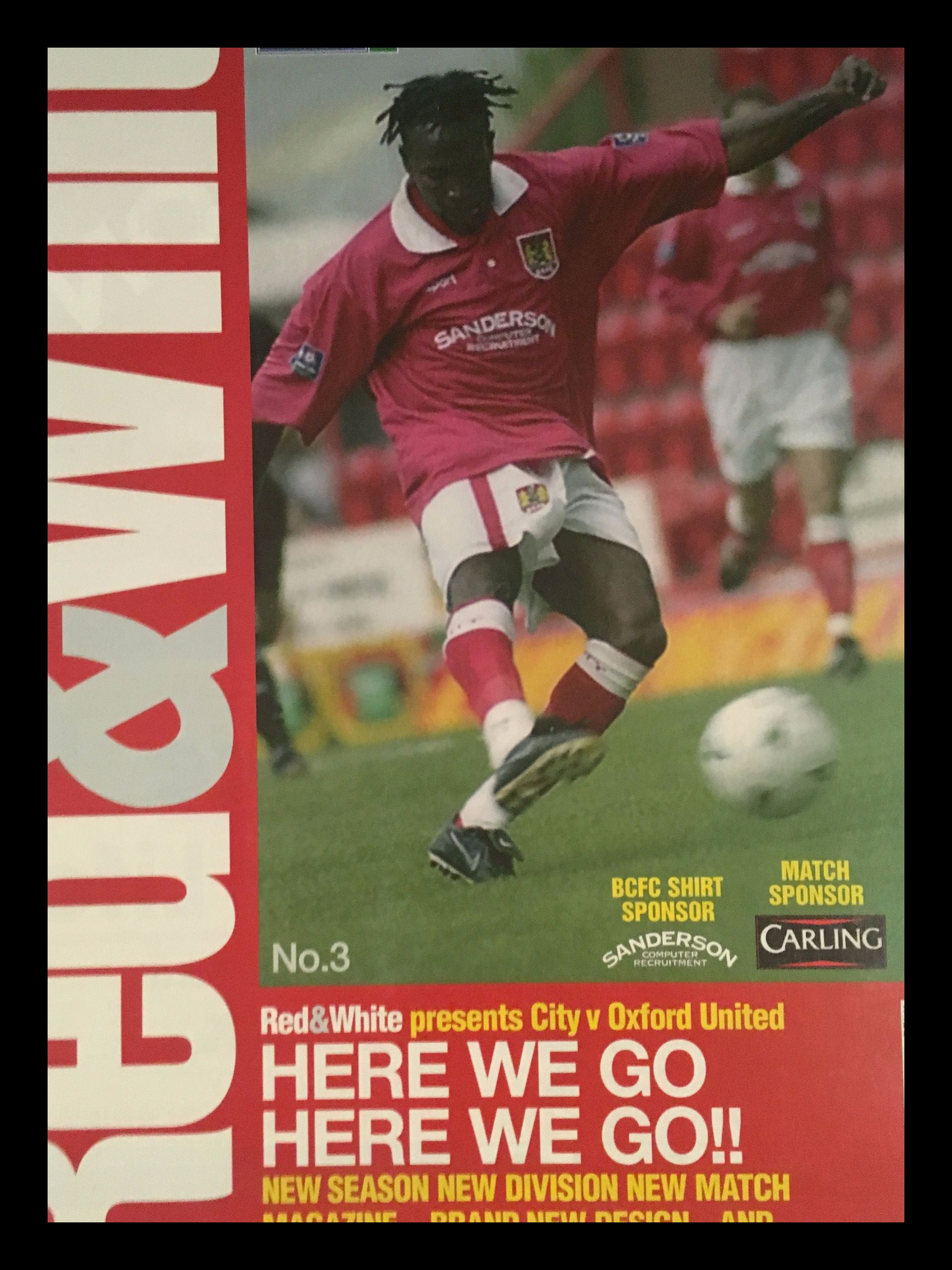 Bristol City v Oxford United 08-08-1998 Programme