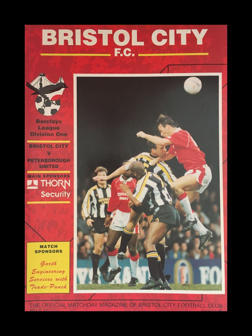 Bristol City v Peterborough United 19-12-1992 Programme