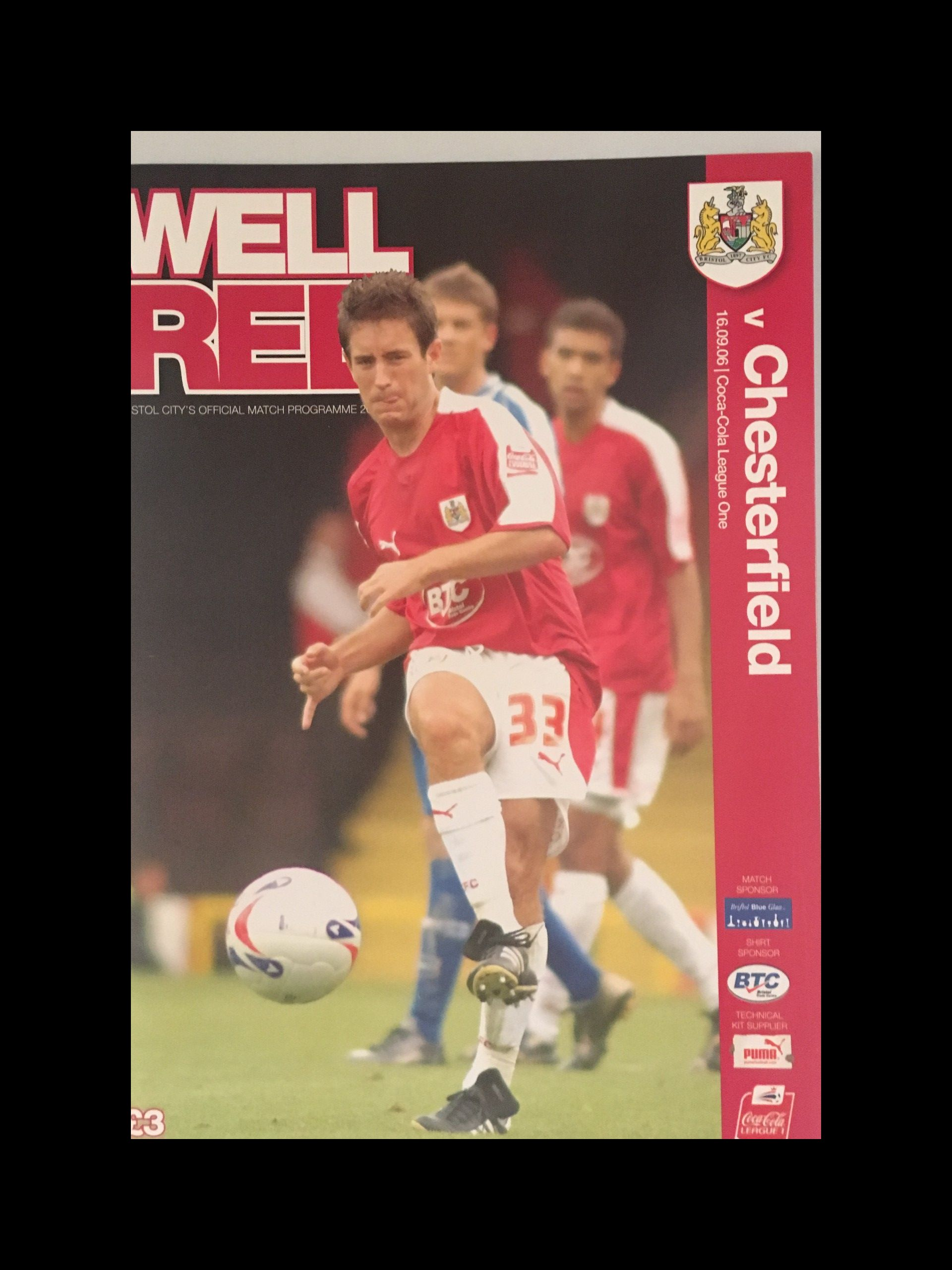 Bristol City v Chesterfield 16-09-2006 Programme