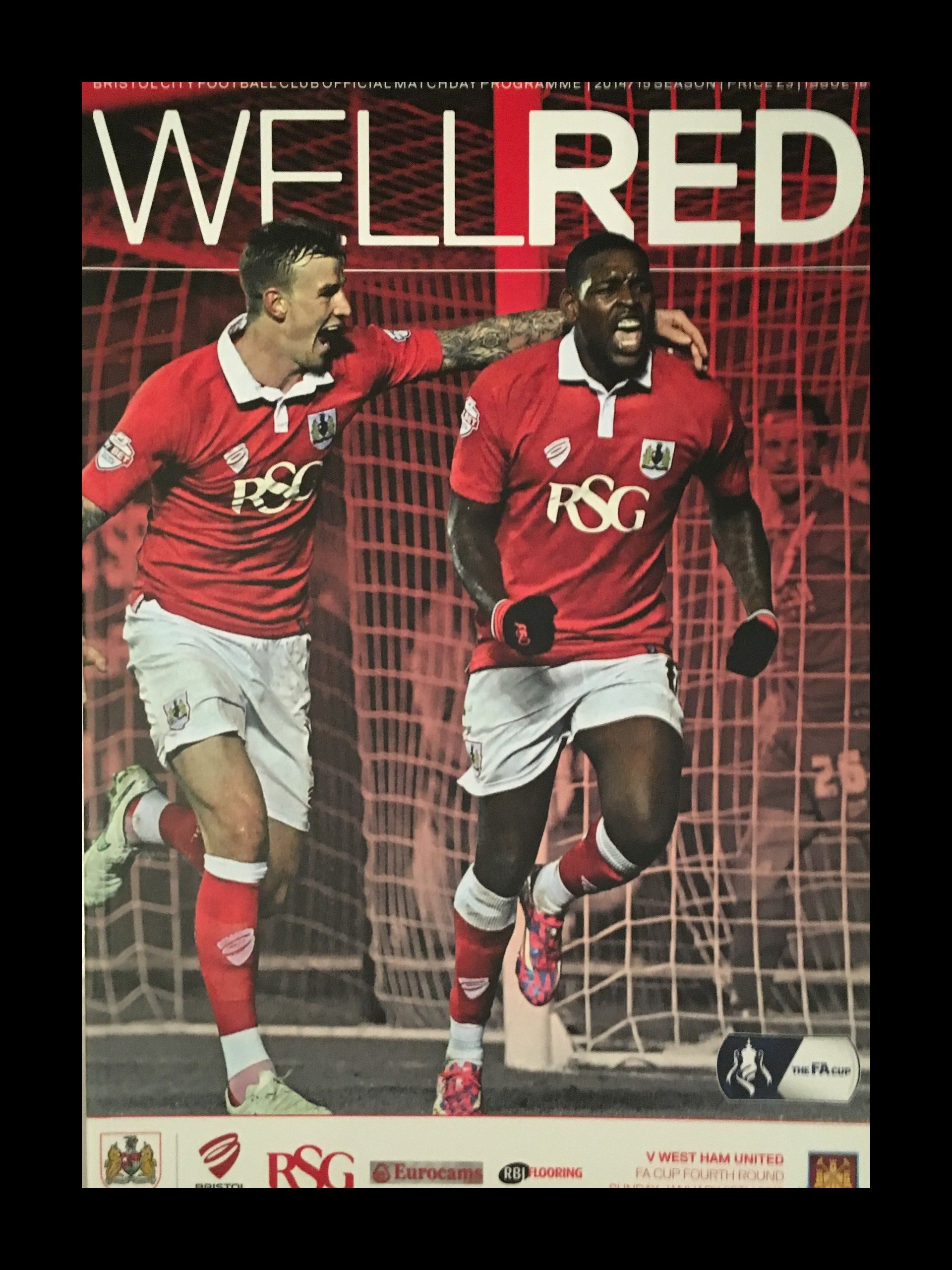 Bristol City v West Ham United 25-01-2015 Programme