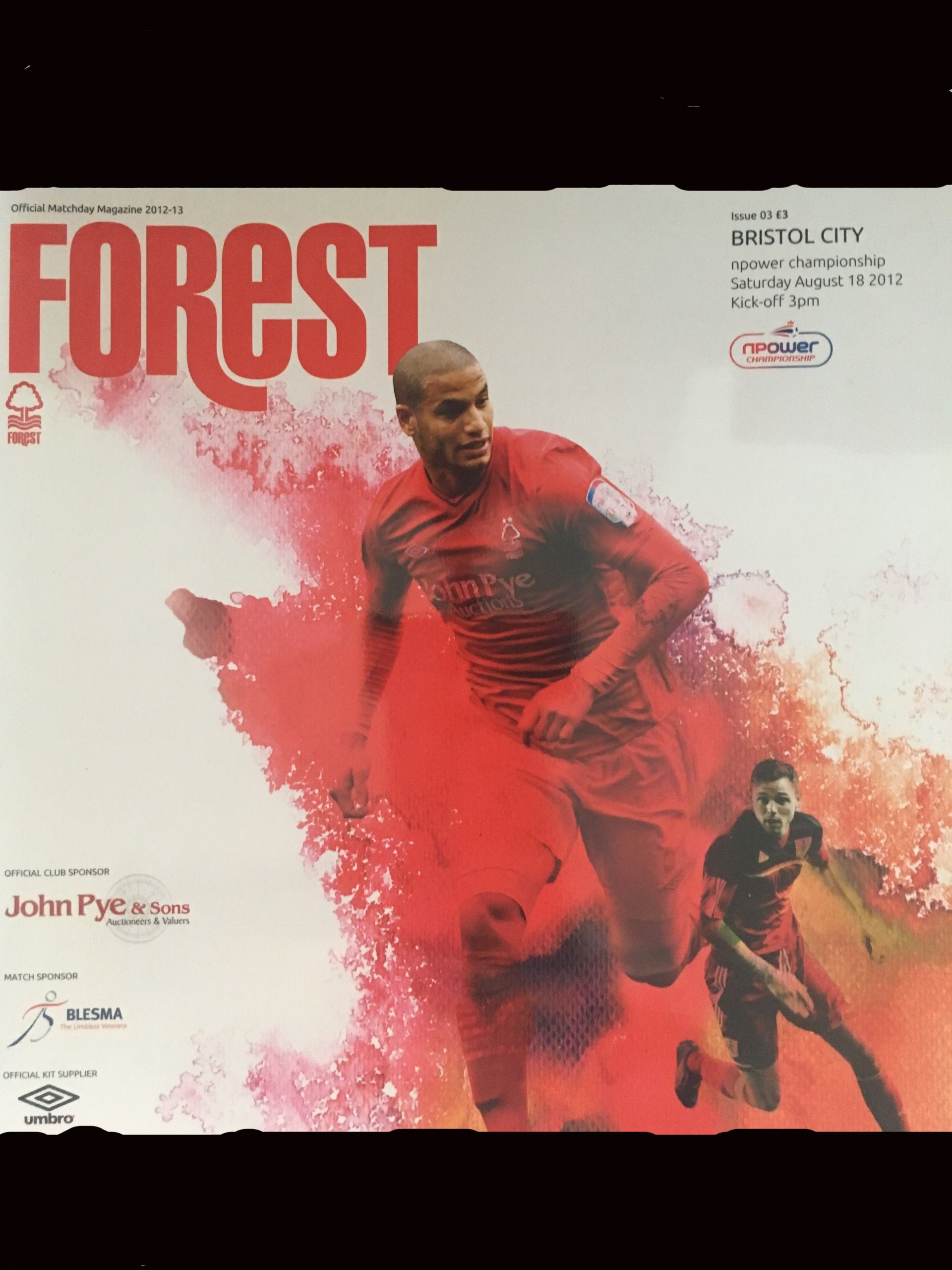 Nottingham Forest v Bristol City 18-08-2012 Programme