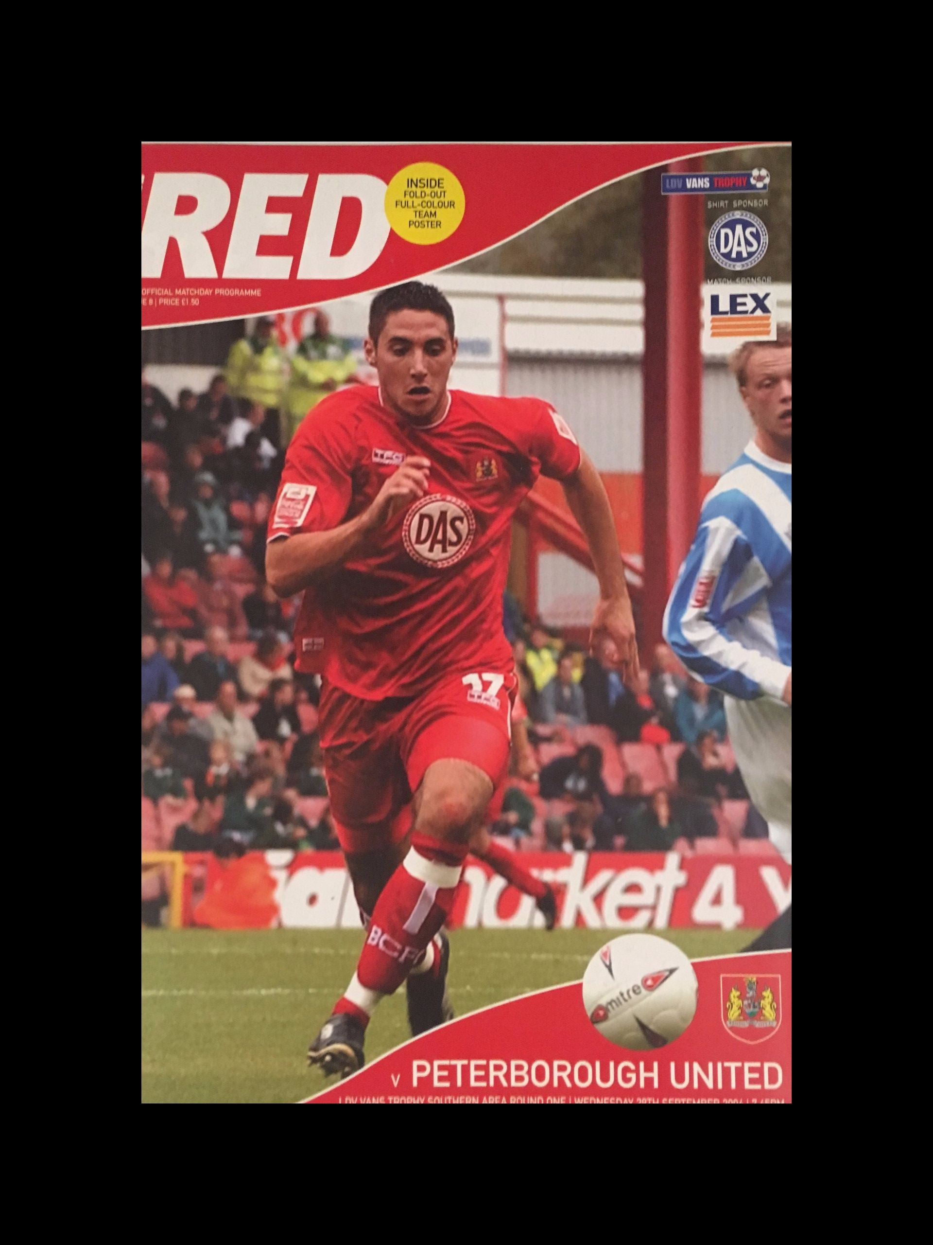 Bristol City v Peterborough United 29-09-2004 Programme