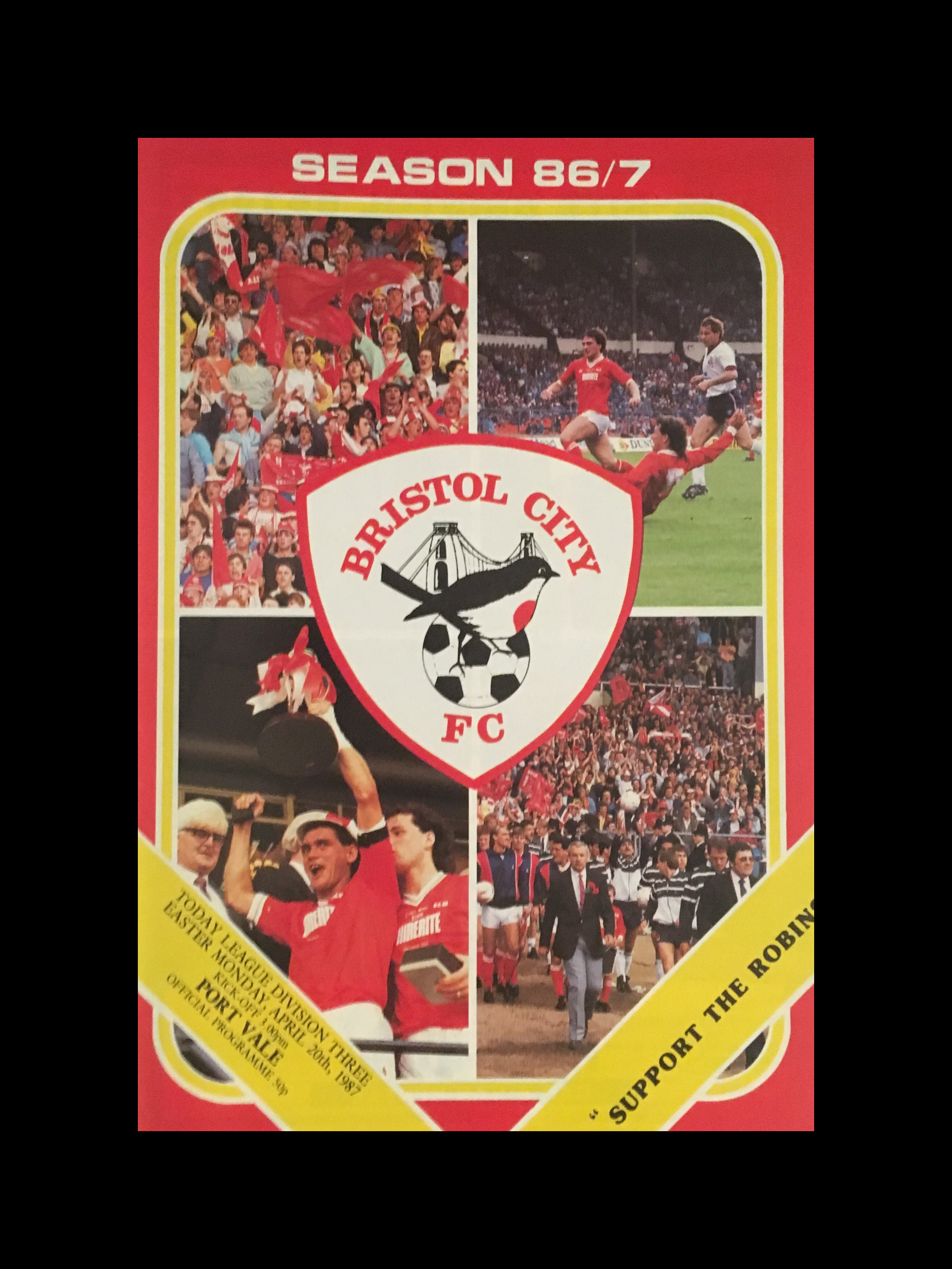 Bristol City v Port Vale 20-04-87 Programme