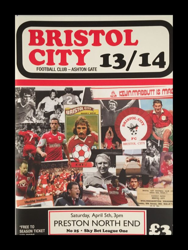 Bristol City v Preston North End 05-04-2014 Programme
