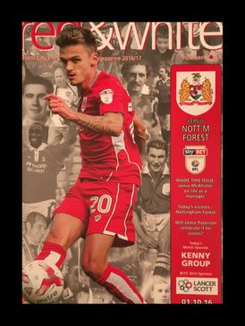 Bristol City v Nottingham Forest 01-10-2016 Programme