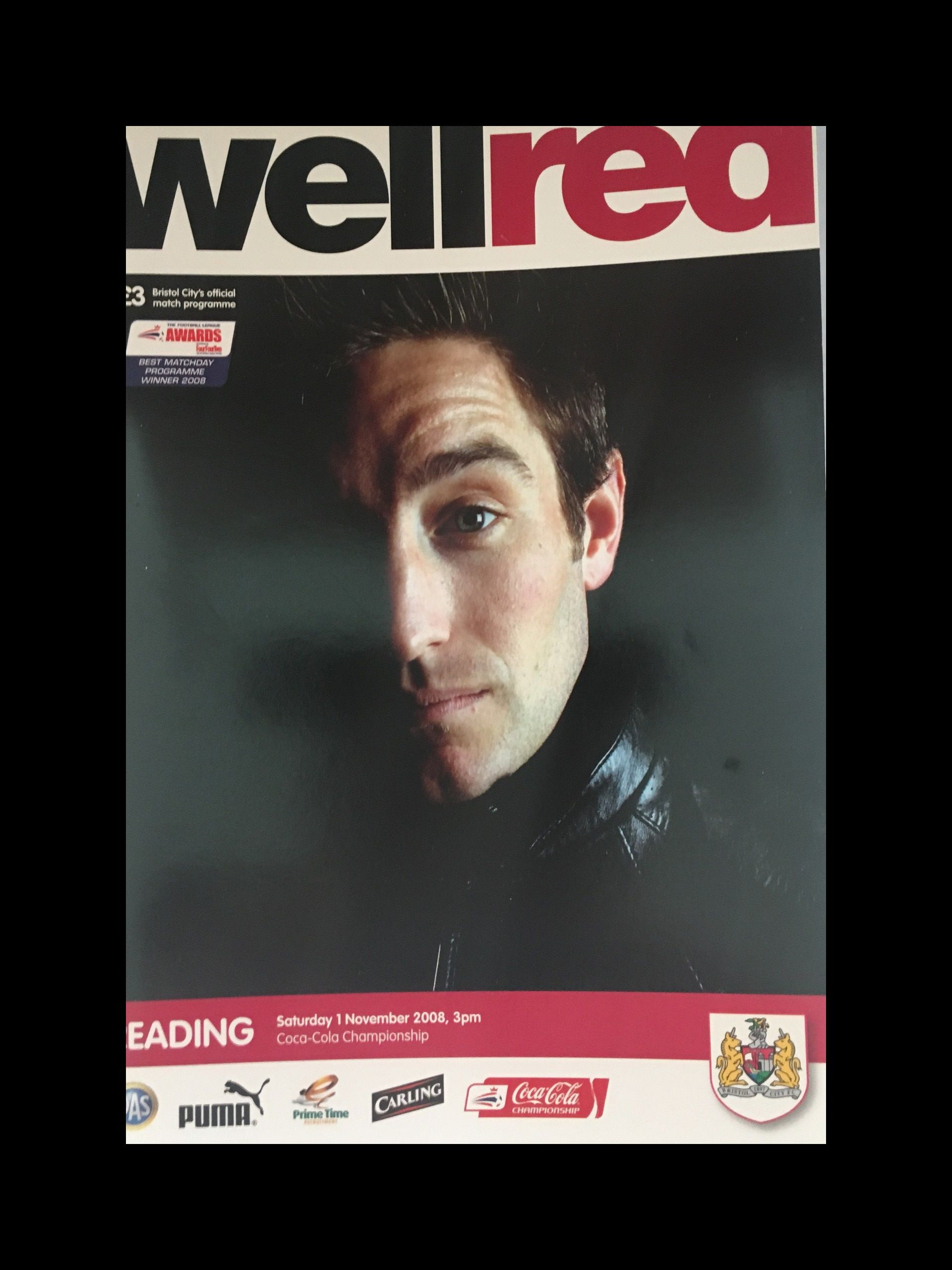 Bristol City v Reading 01-11-2008 Programme