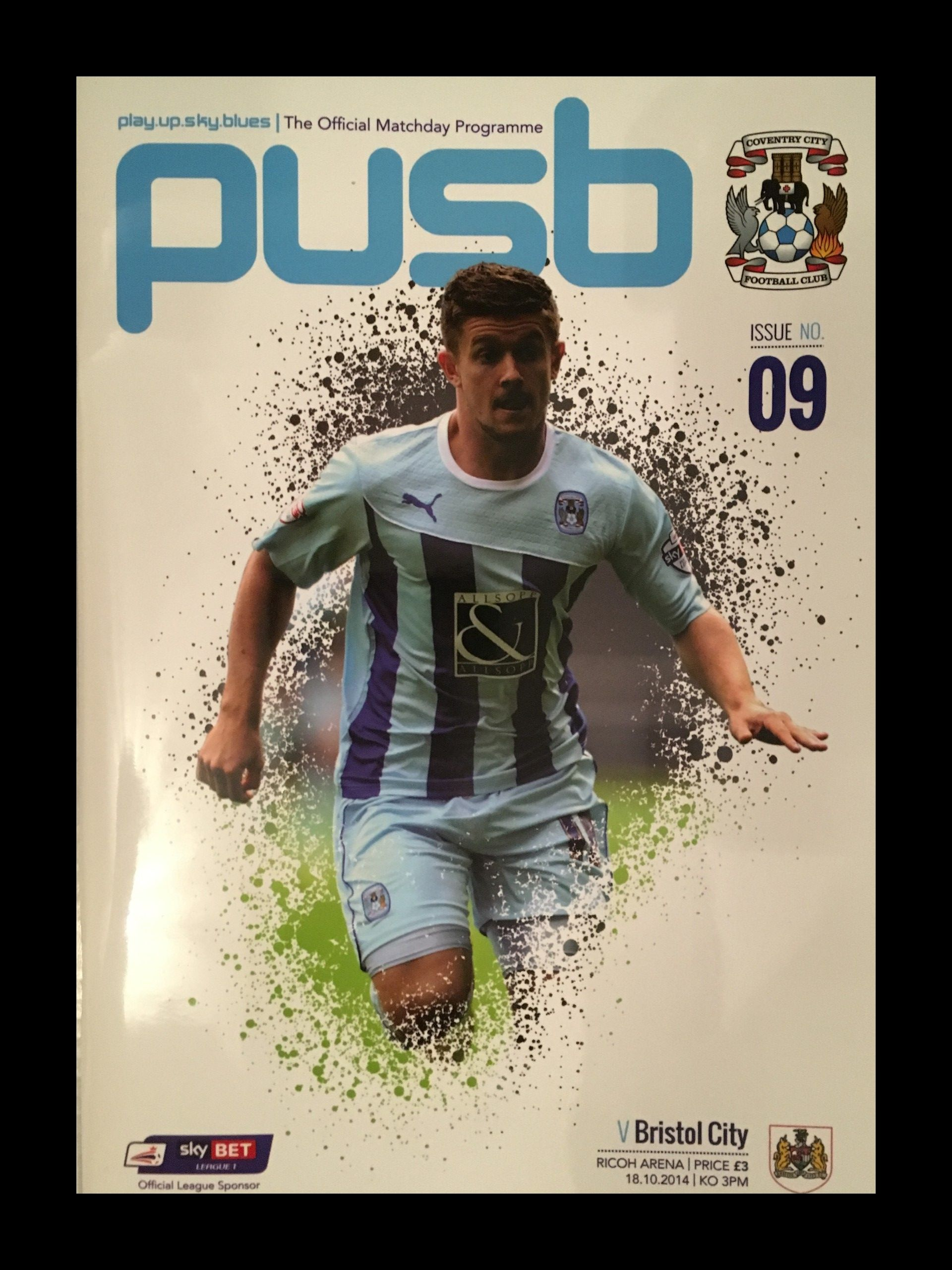 Coventry City v Bristol City 18-10-2014 Programme