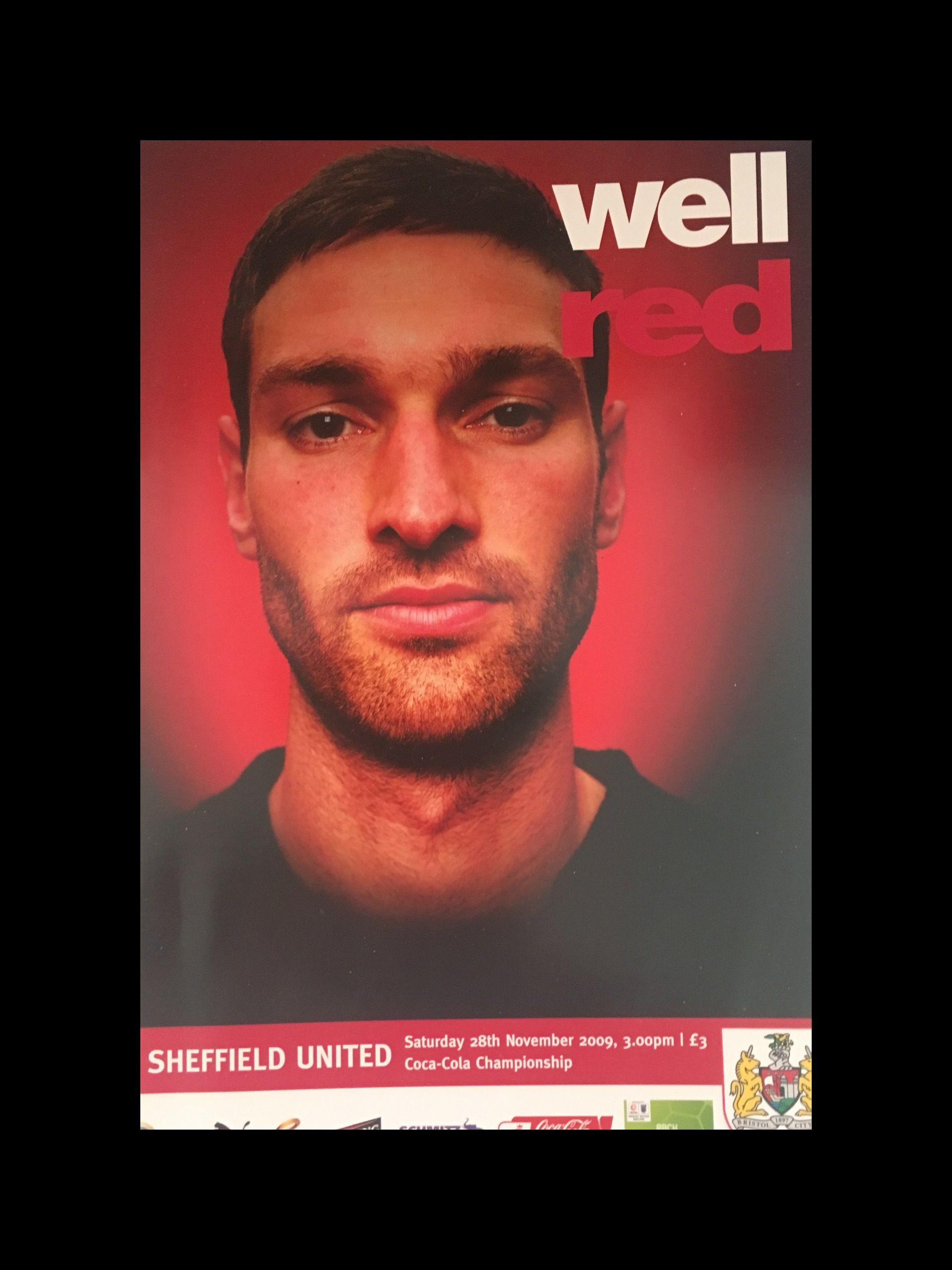 Bristol City v Sheffield United 28-11-2009 Programme