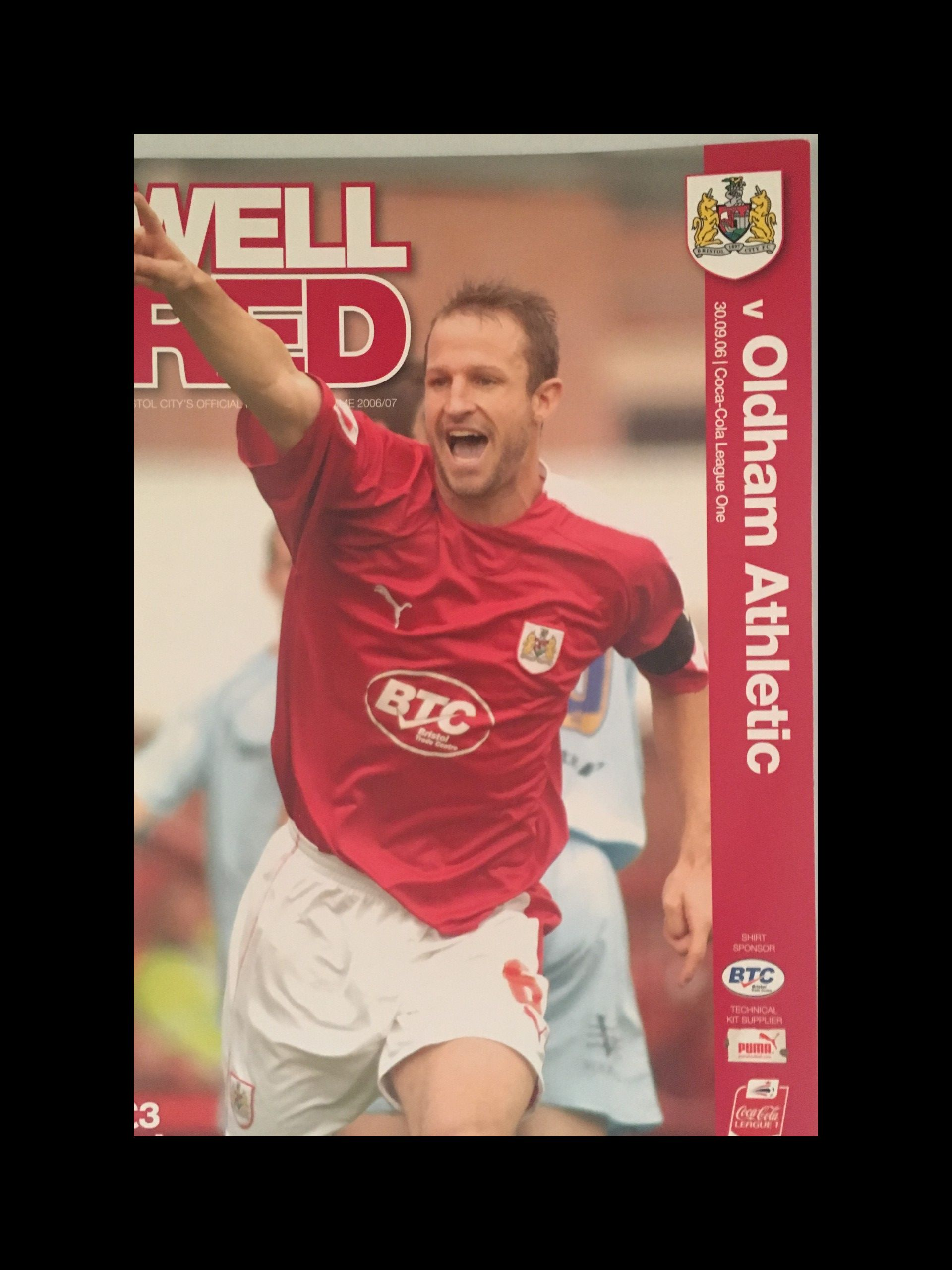 Bristol City v Oldham Athletic 30-09-2006 Programme