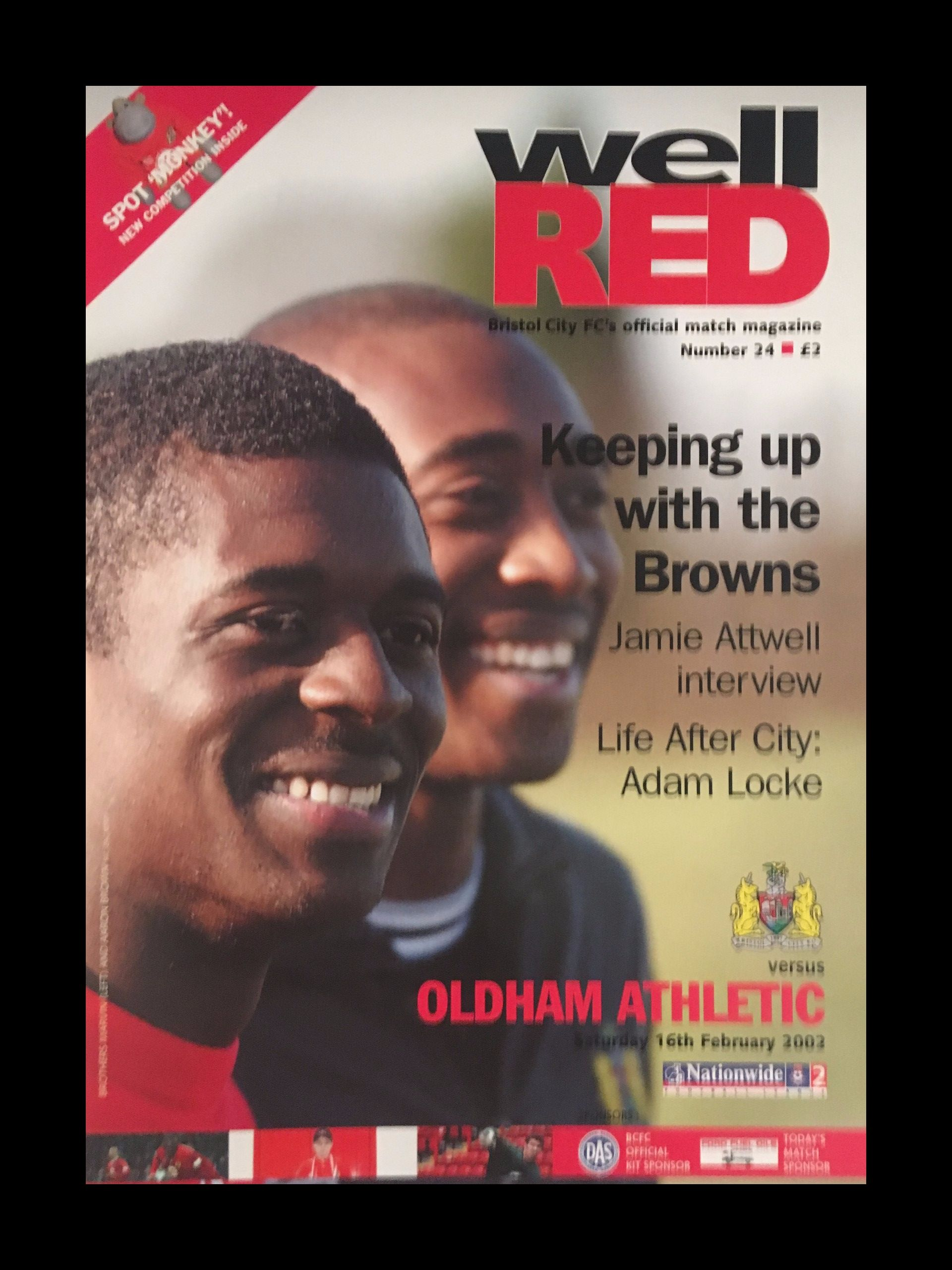 Bristol City v Oldham Athletic 16-02-2002 Programme