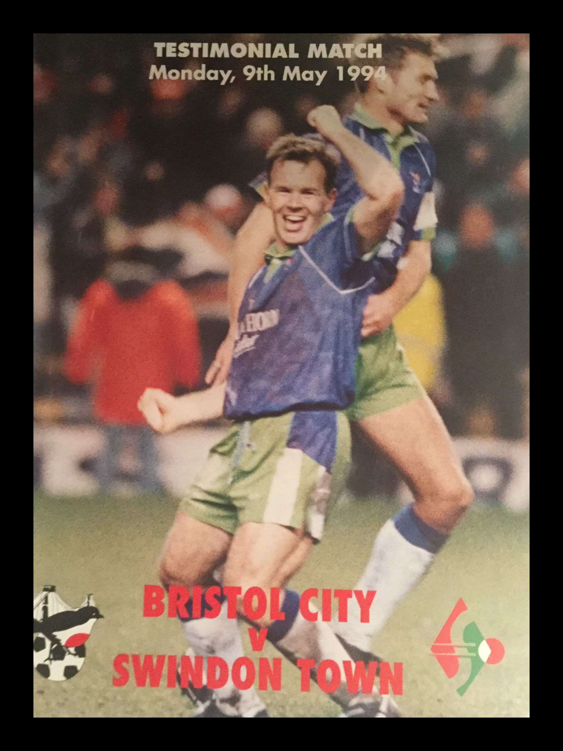 Bristol City v Swindon Town 09-05-1994 Programme