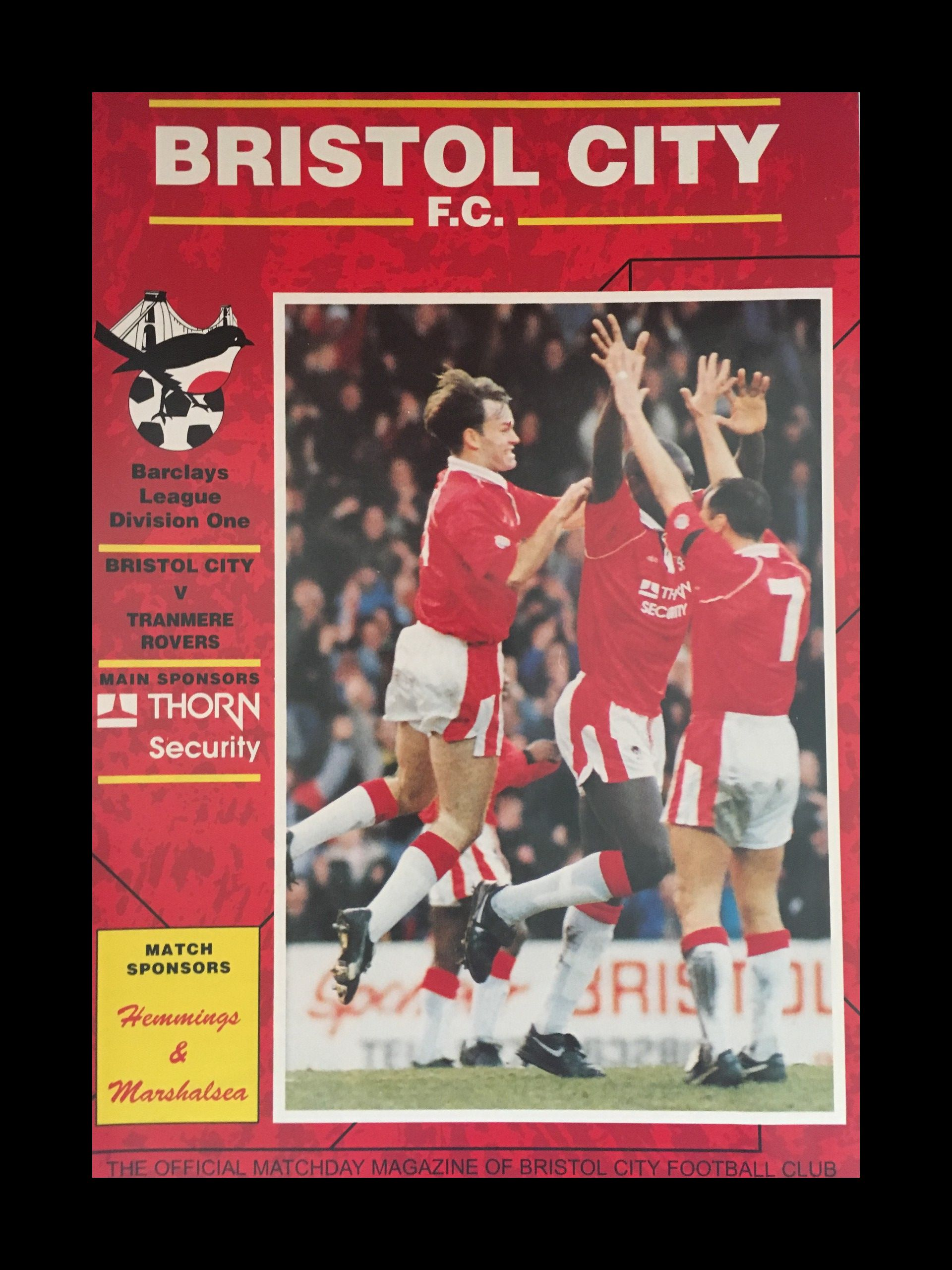 Bristol City v Tranmere Rovers 06-03-1993 Programme