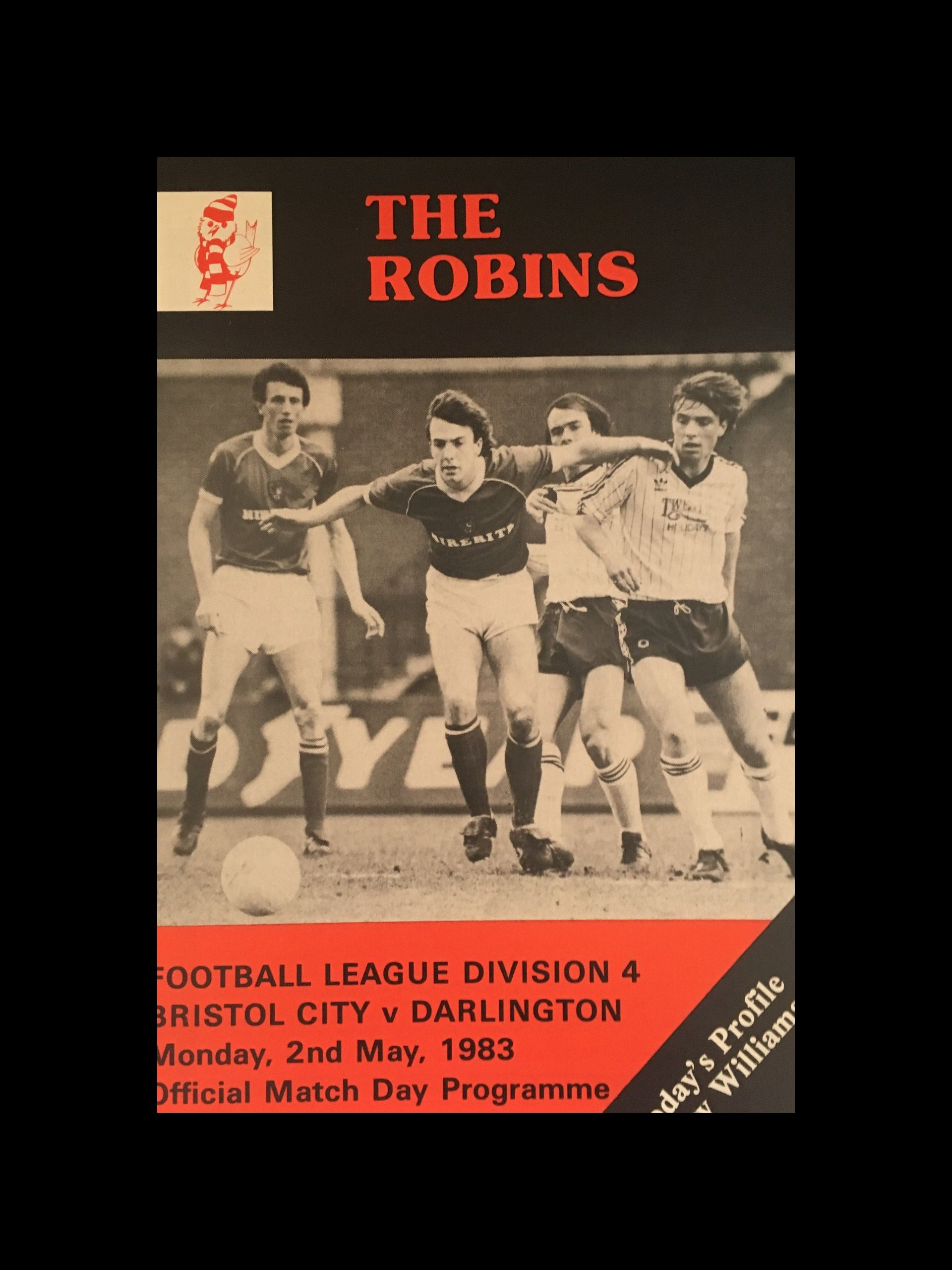 Bristol City v Darlington 02-05-83 Programme