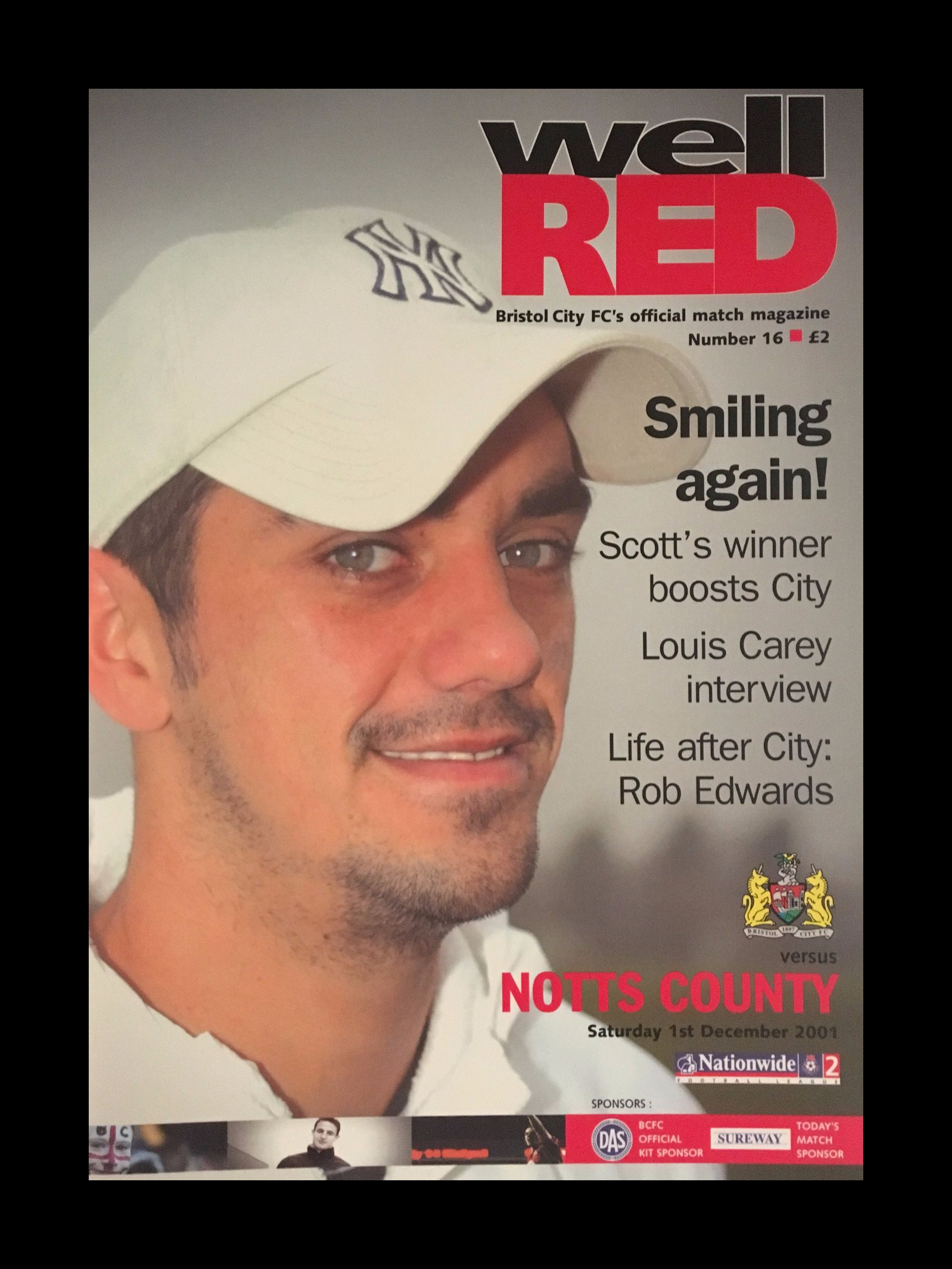 Bristol City v Notts County 01-12-2001 Programme