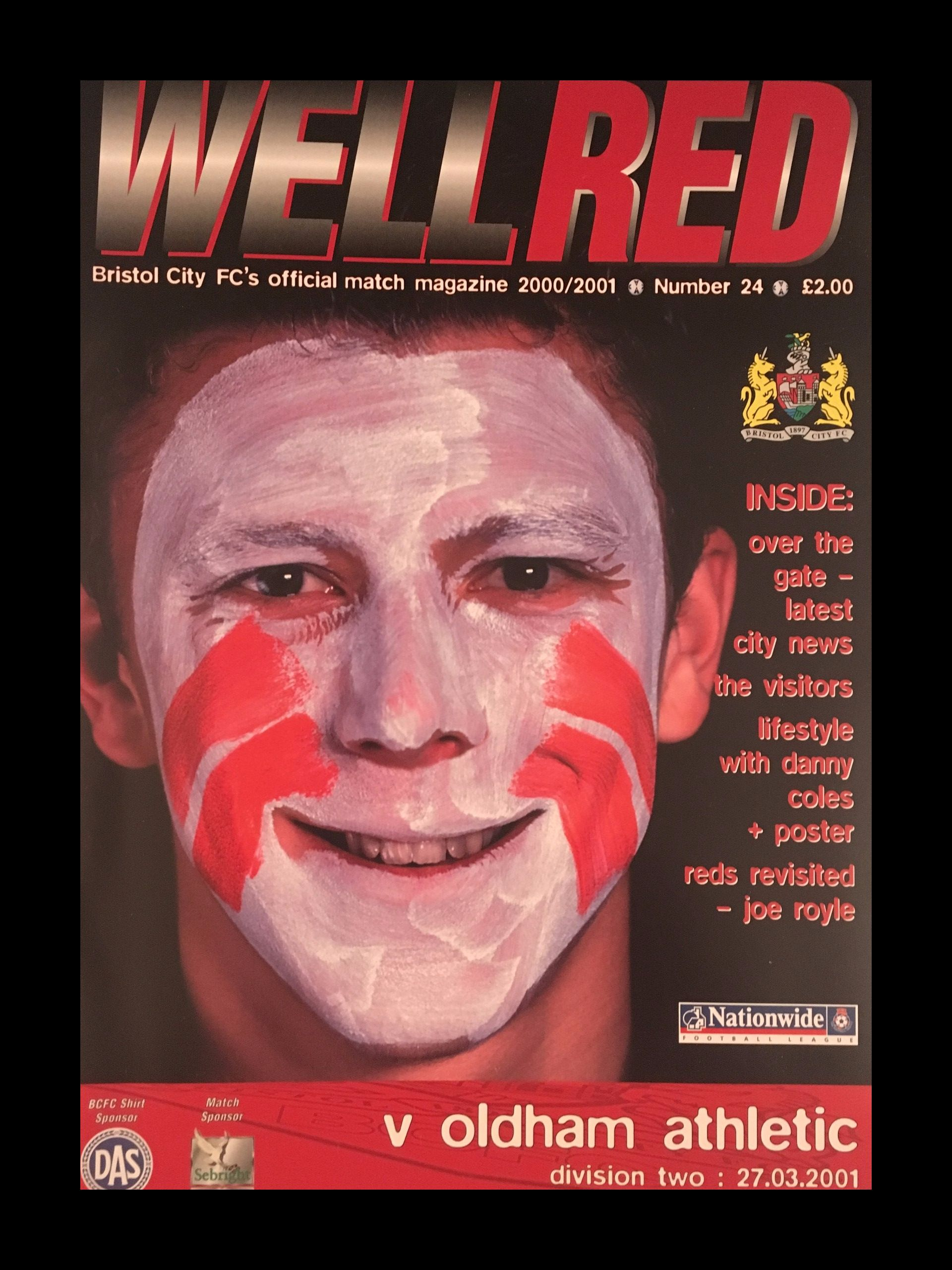Bristol City v Oldham Athletic 27-03-2001 Programme