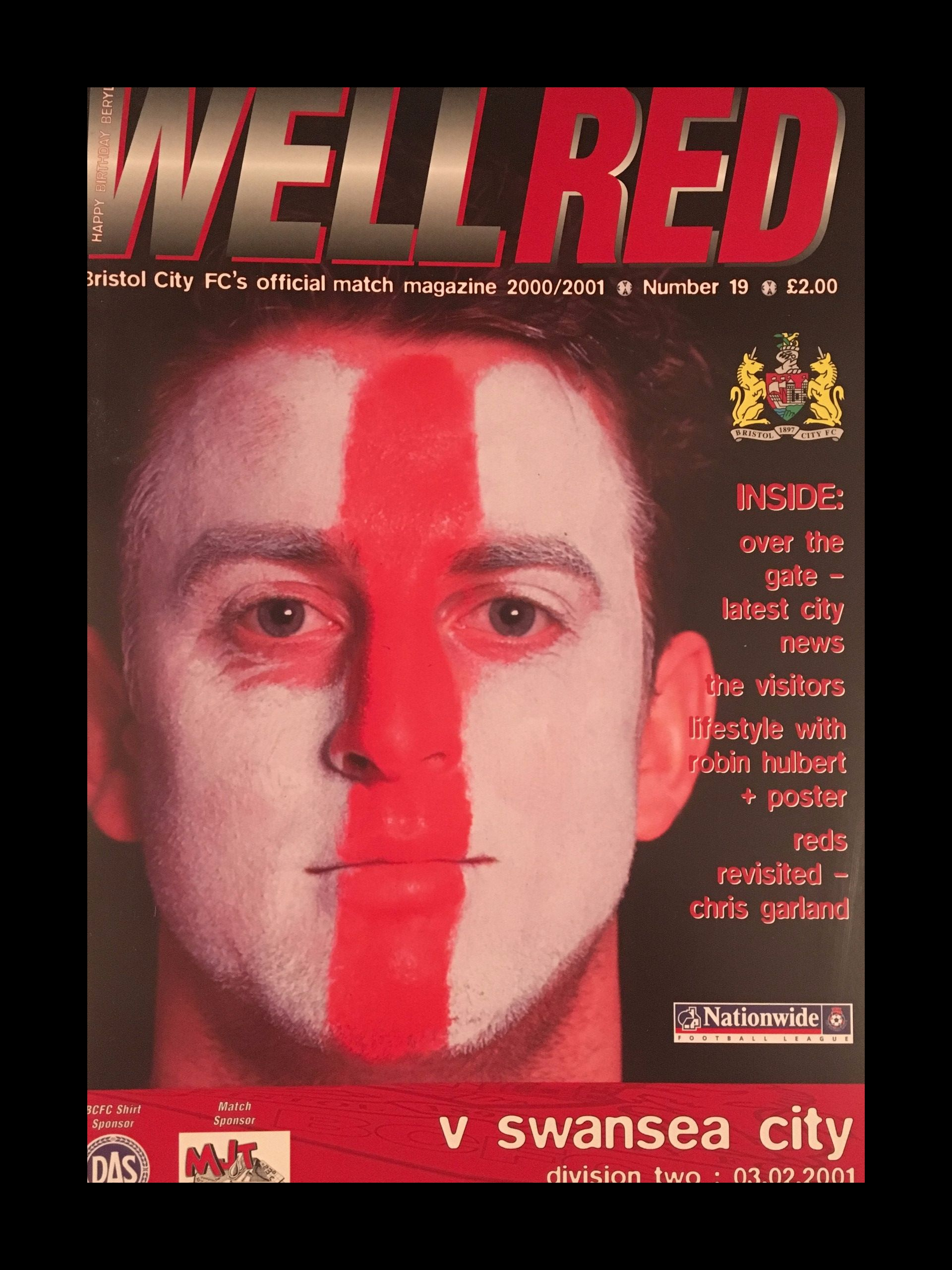 Bristol City v Swansea City 03-02-2001 Programme