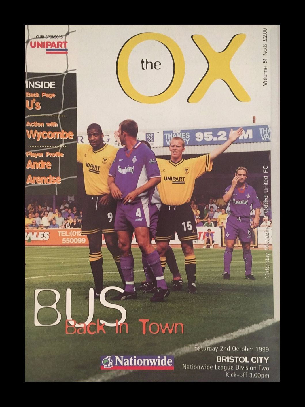Oxford United v Bristol City 02-10-1999 Programme