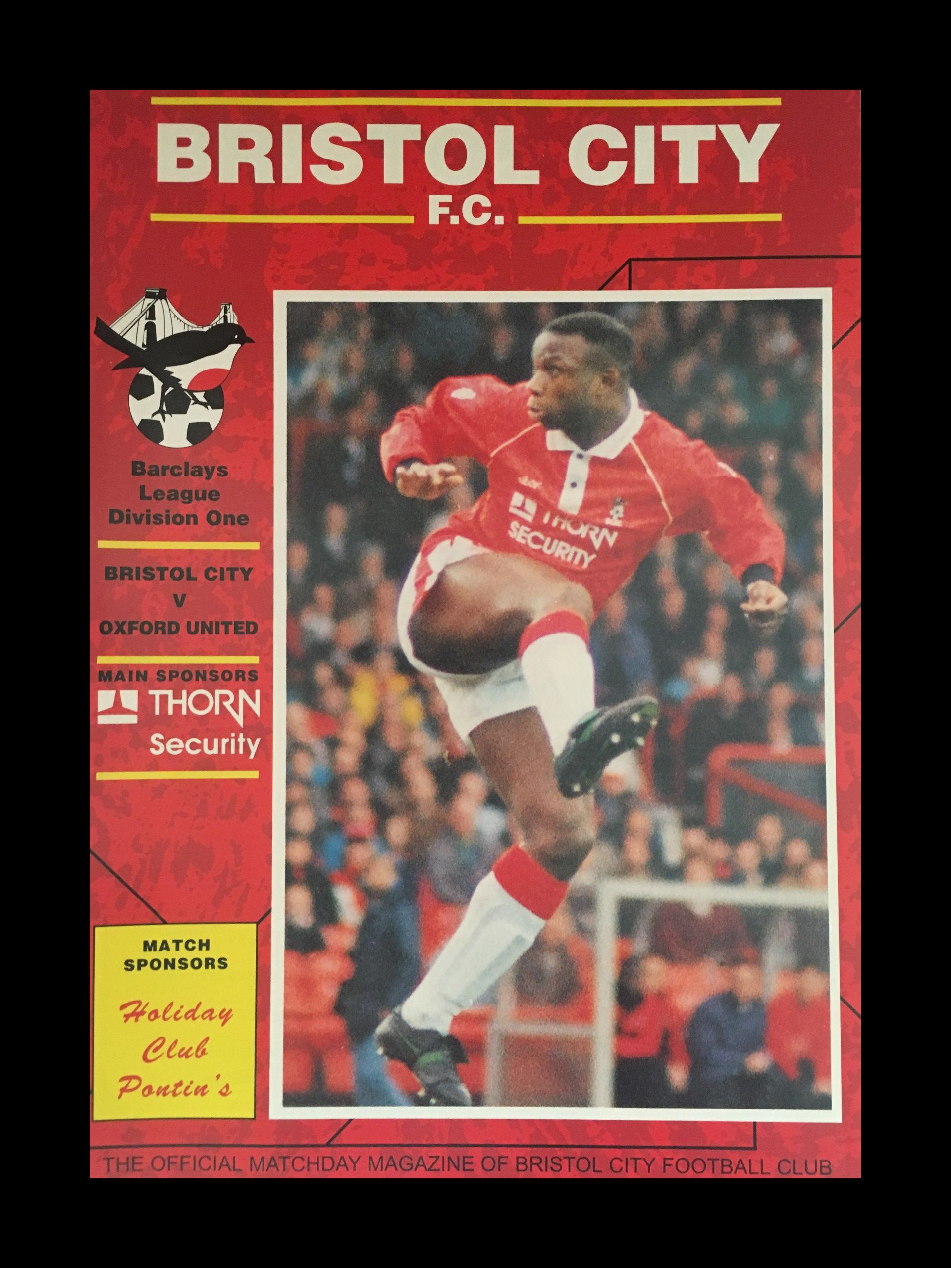 Bristol City v Oxford United 26-12-1992 Programme