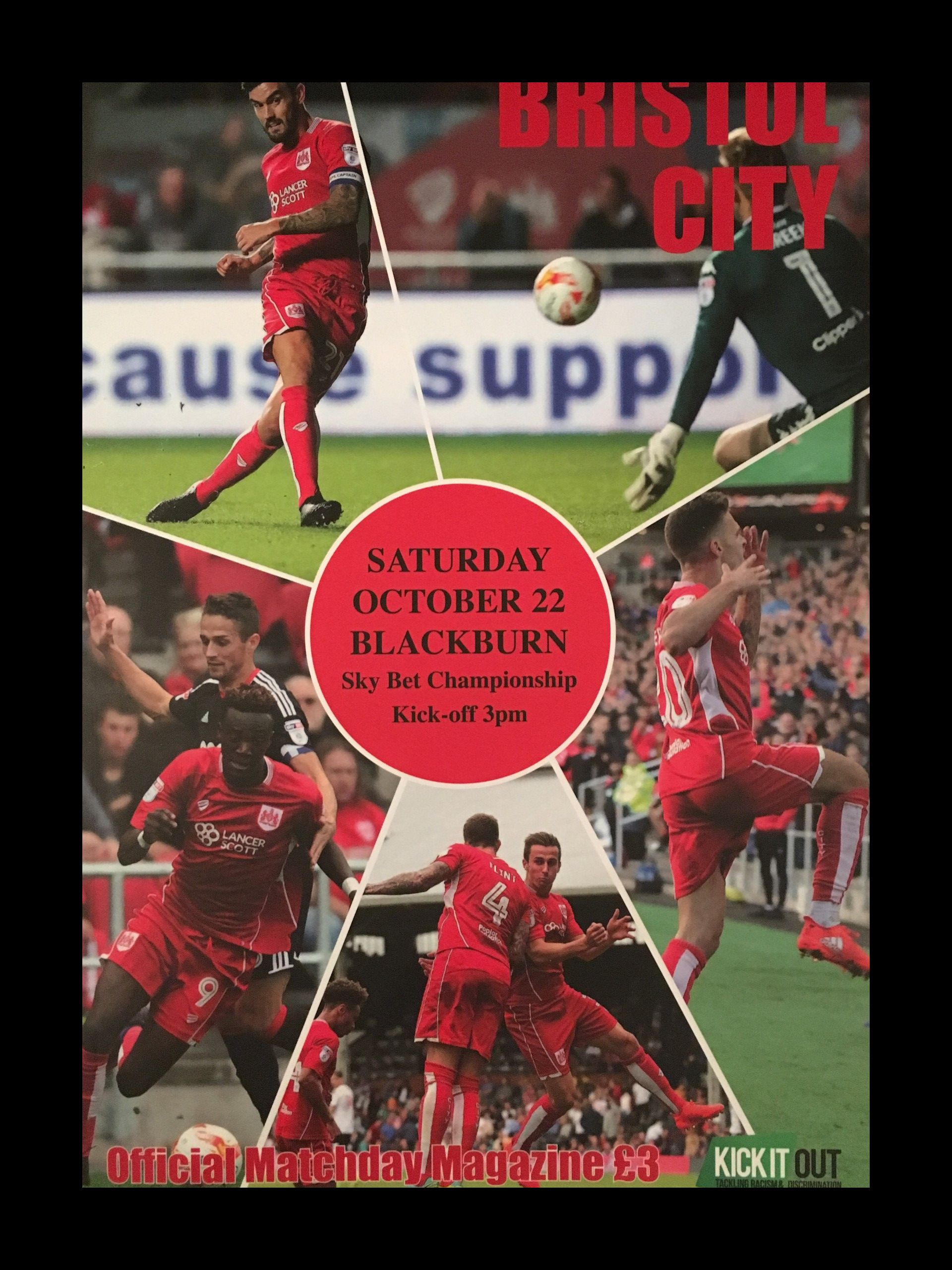 Bristol City v Blackburn Rovers 22-10-2016 Programme