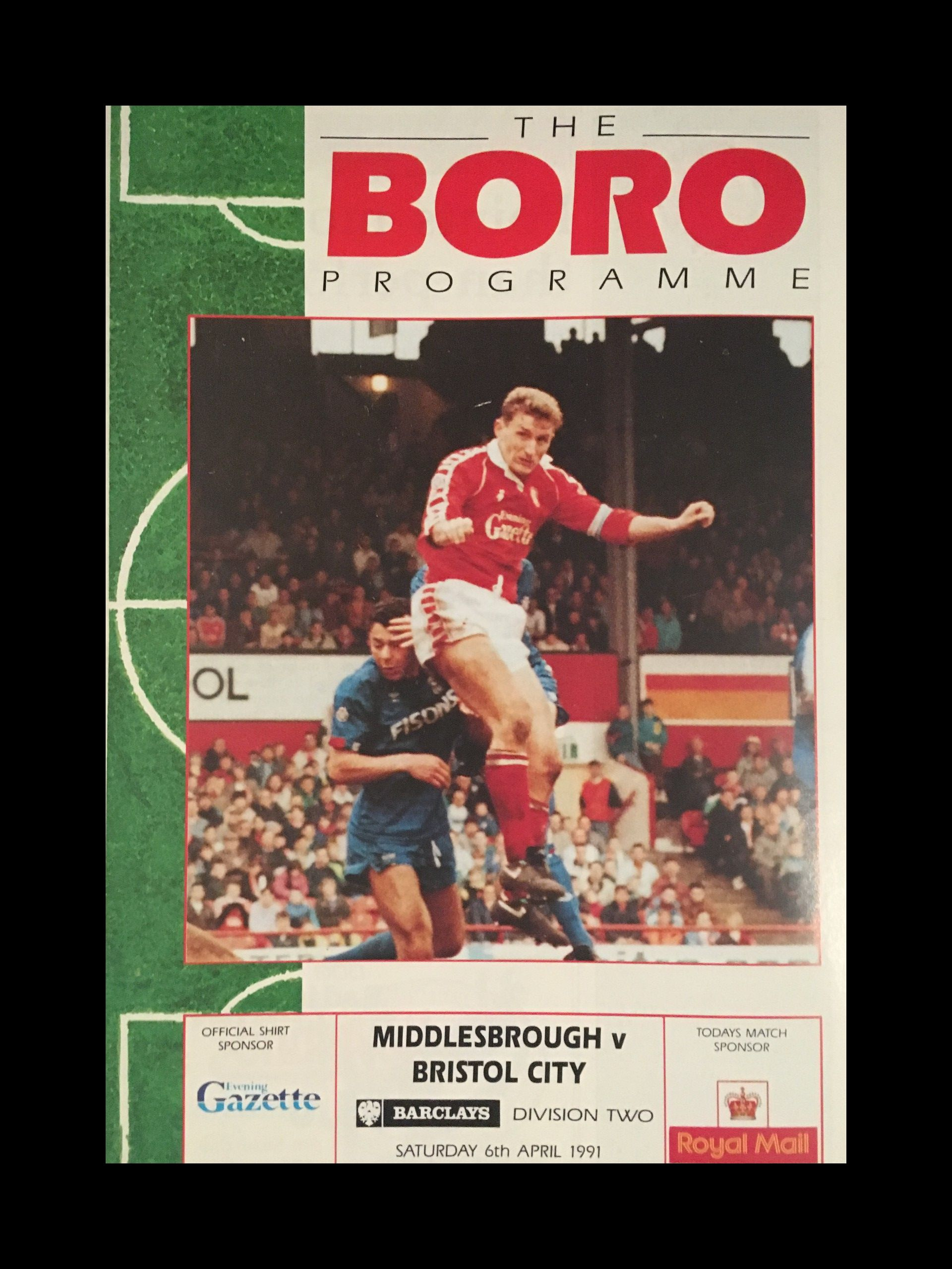 Middlesbrough v Bristol City 06-04-1991 Programme
