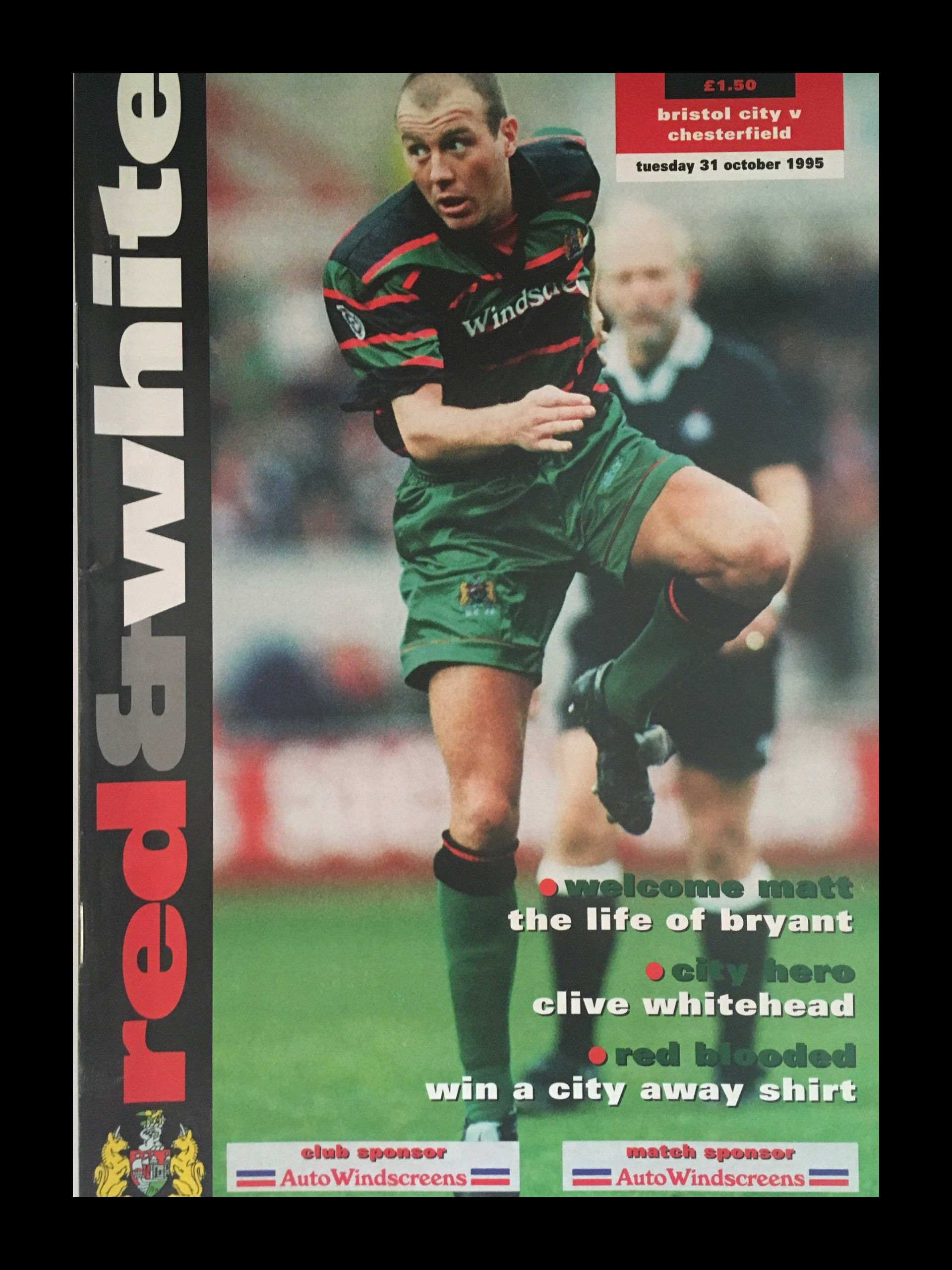 Bristol City v Chesterfield 31-10-1995 Programme