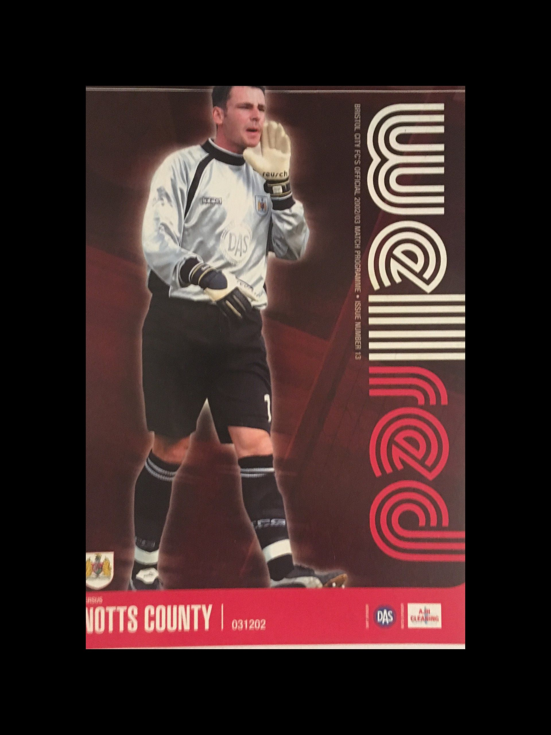 Bristol City v Notts County 03-12-2002 Programme