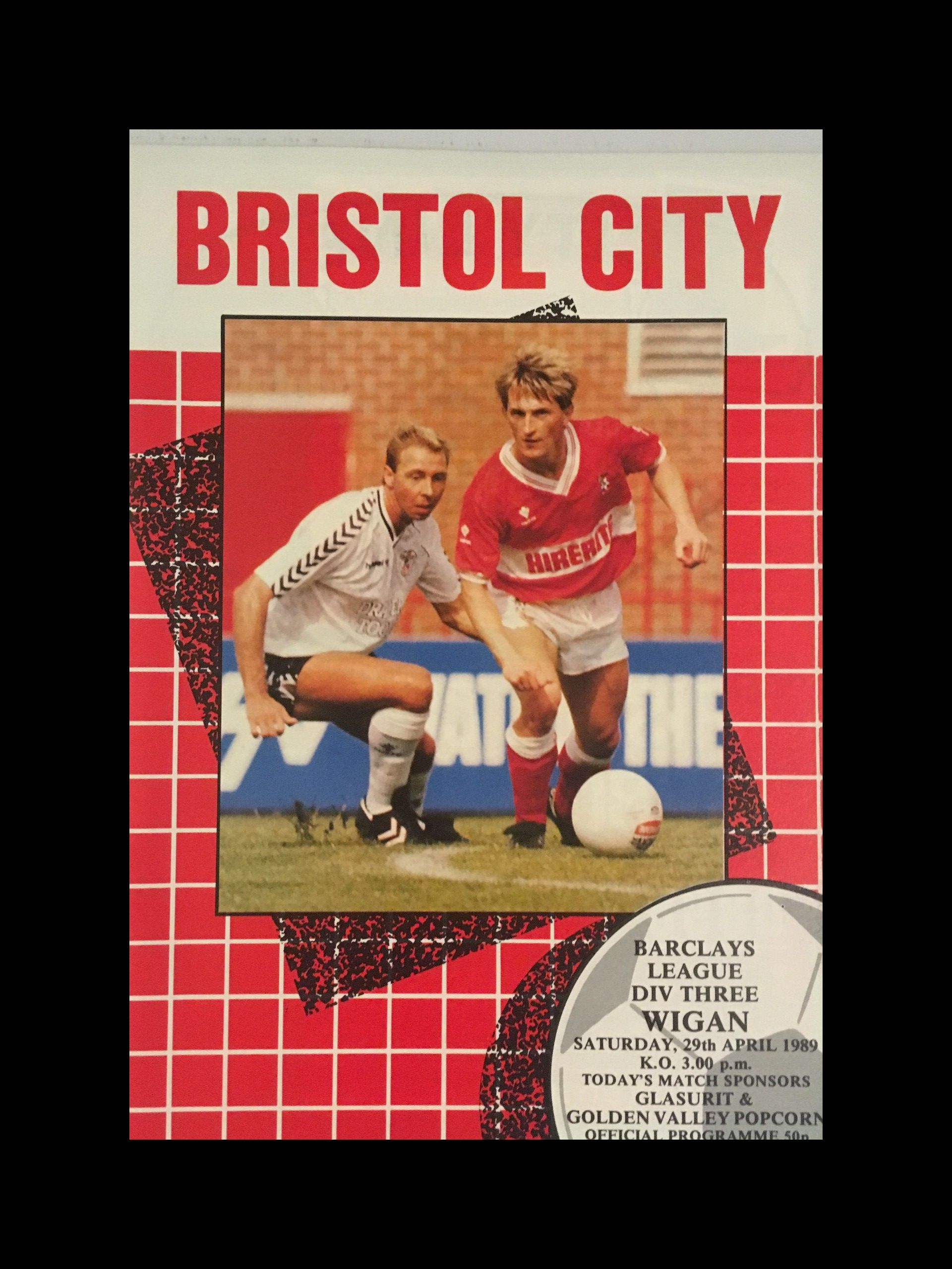 Bristol City v Wigan Athletic 29-04-1989 Programme