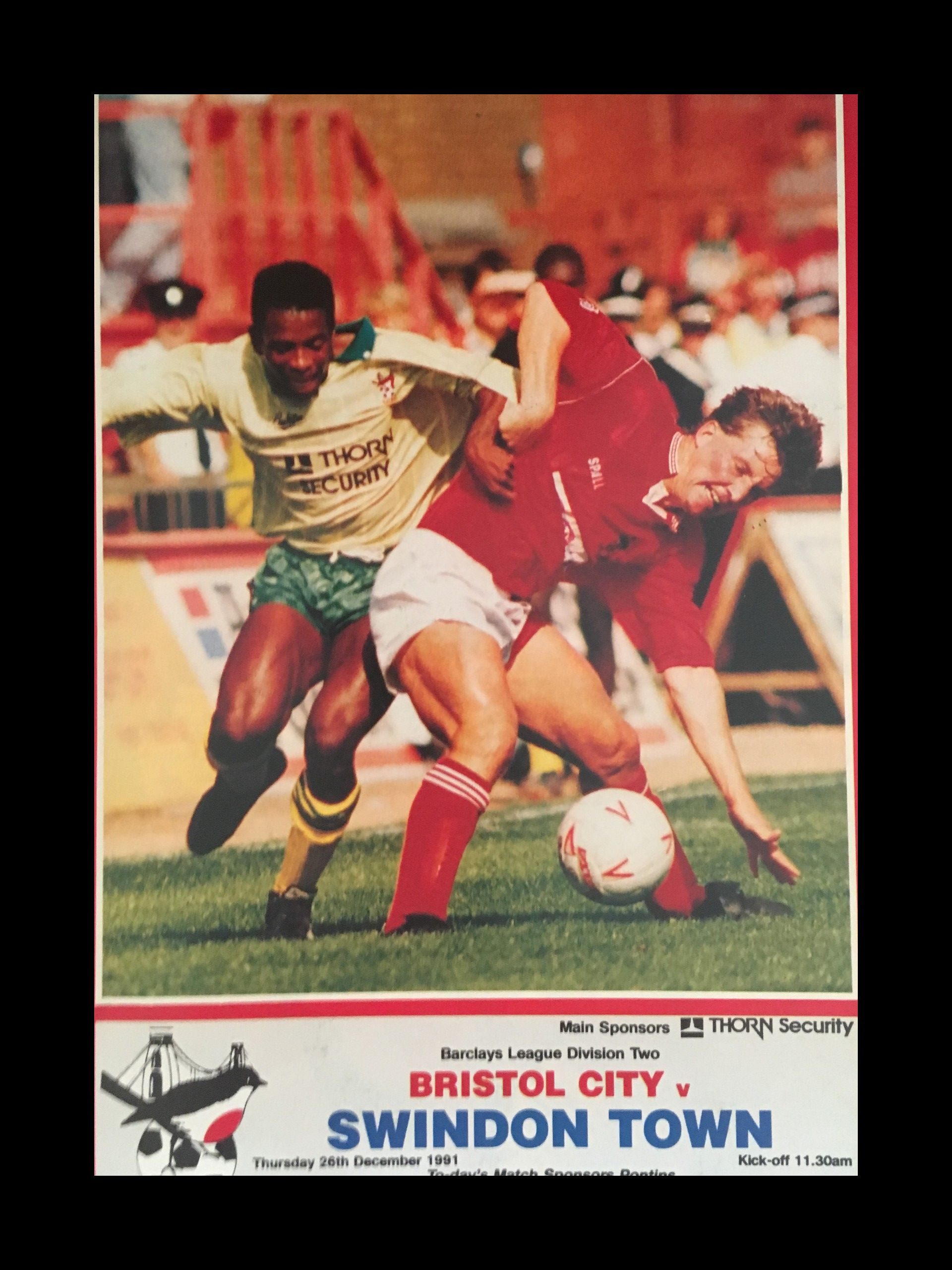 Bristol City v Swindon Town 26-12-1991 Programme