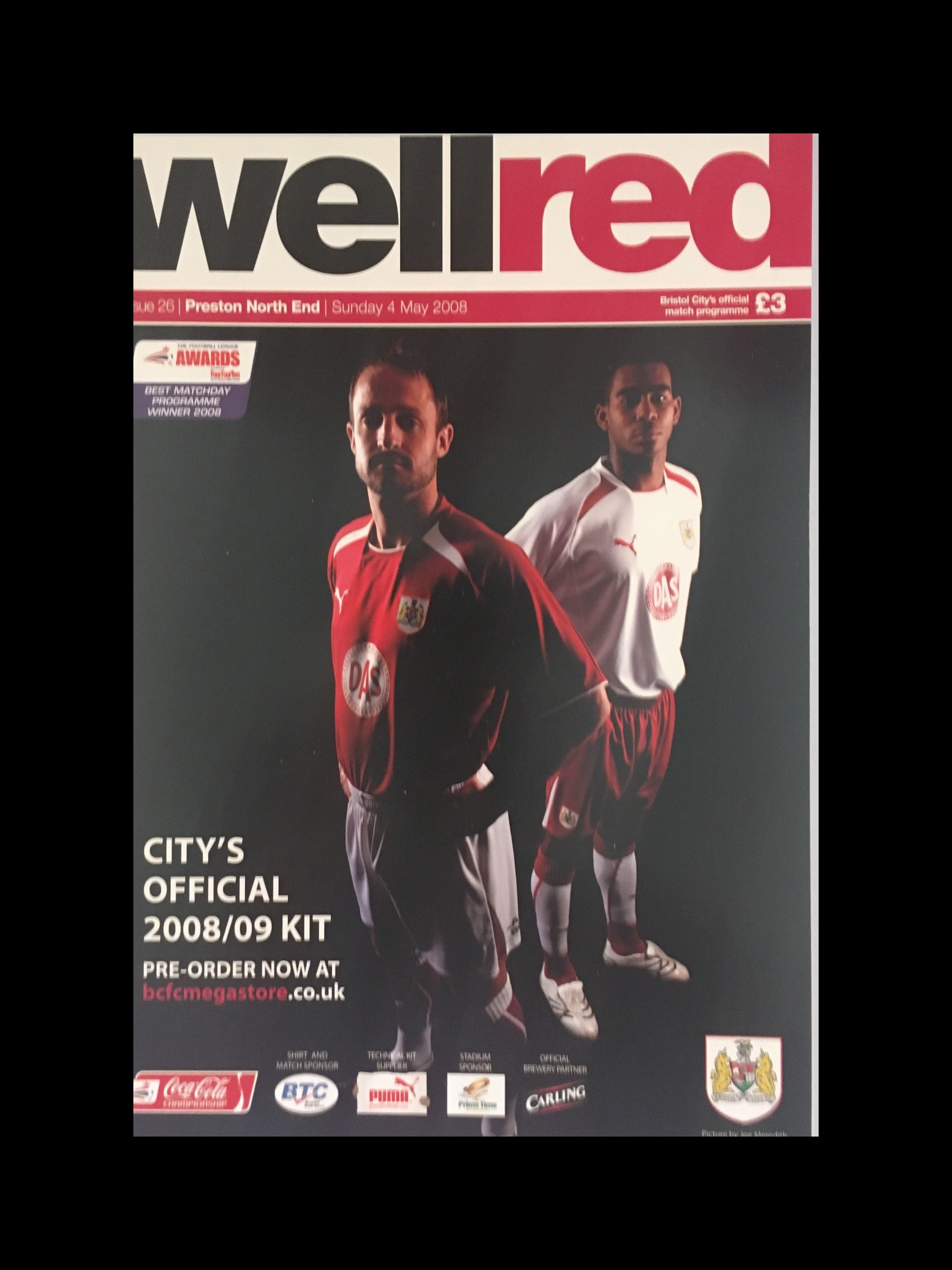 Bristol City v Preston North End 04-05-2008 Programme