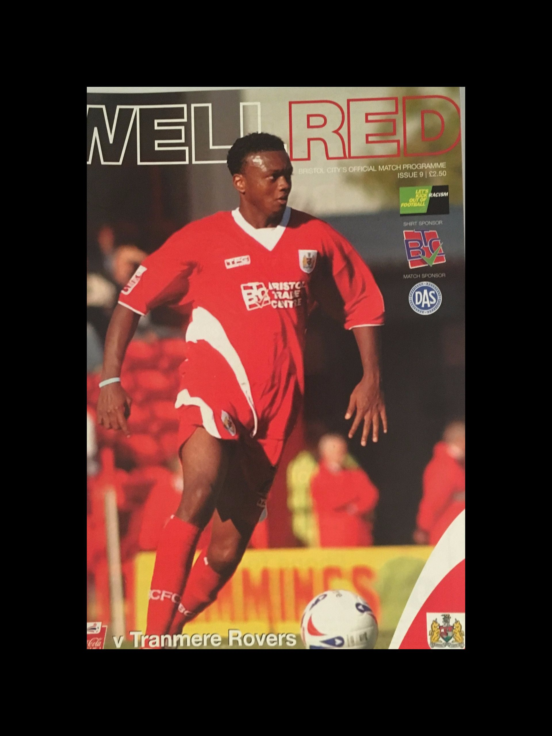 Bristol City v Tranmere Rovers 15-10-2005 Programme