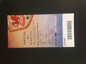 Cardiff City v Bristol City 16-02-13 Ticket