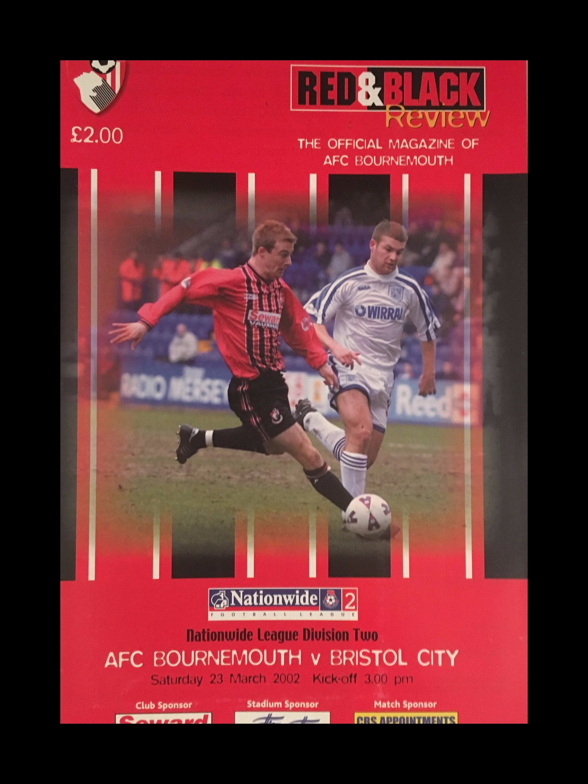 AFC Bournemouth v Bristol City 23-03-2002 Programme