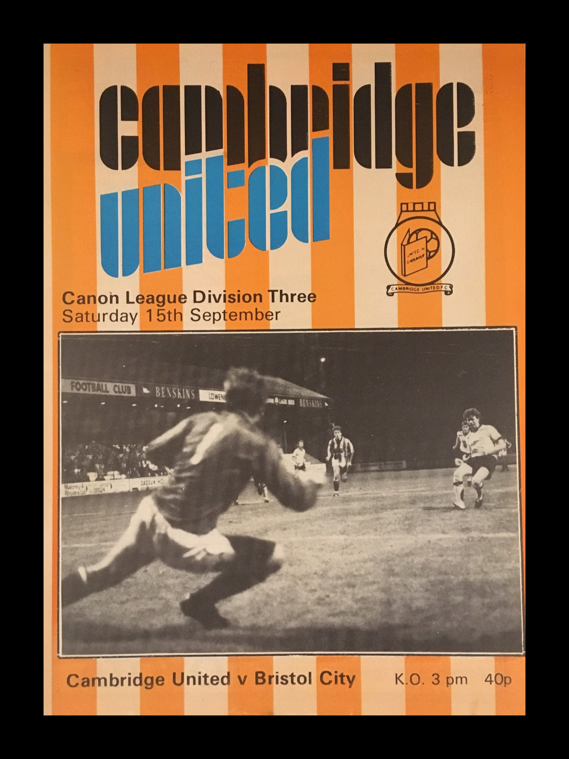 Cambridge United v Bristol City 15-09-84 Programme