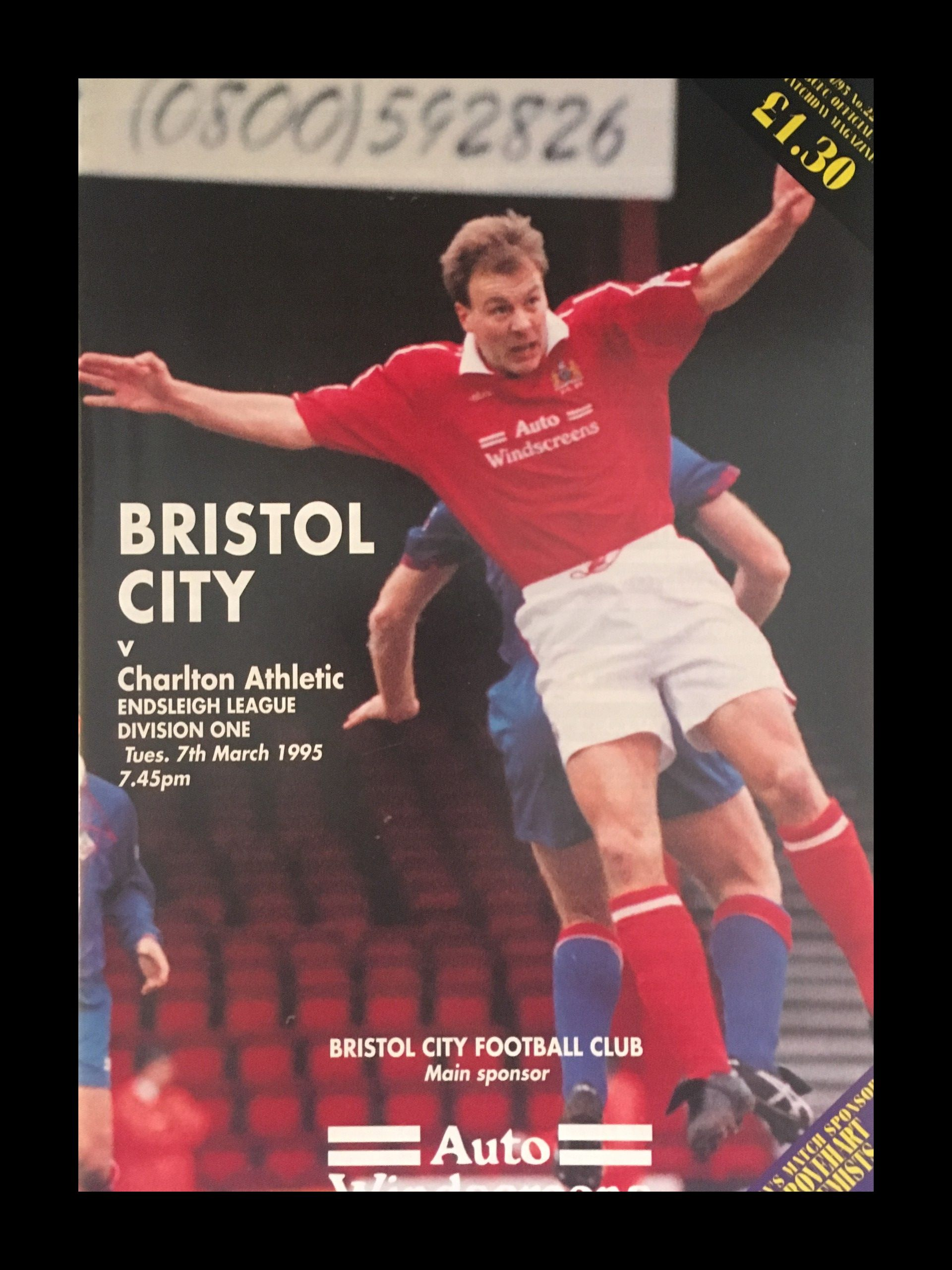 Bristol City v Charlton Athletic 07-03-1995 Programme