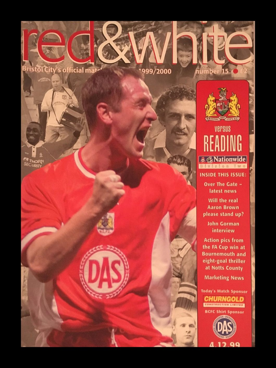 Bristol City v Reading 04-12-1999 Programme