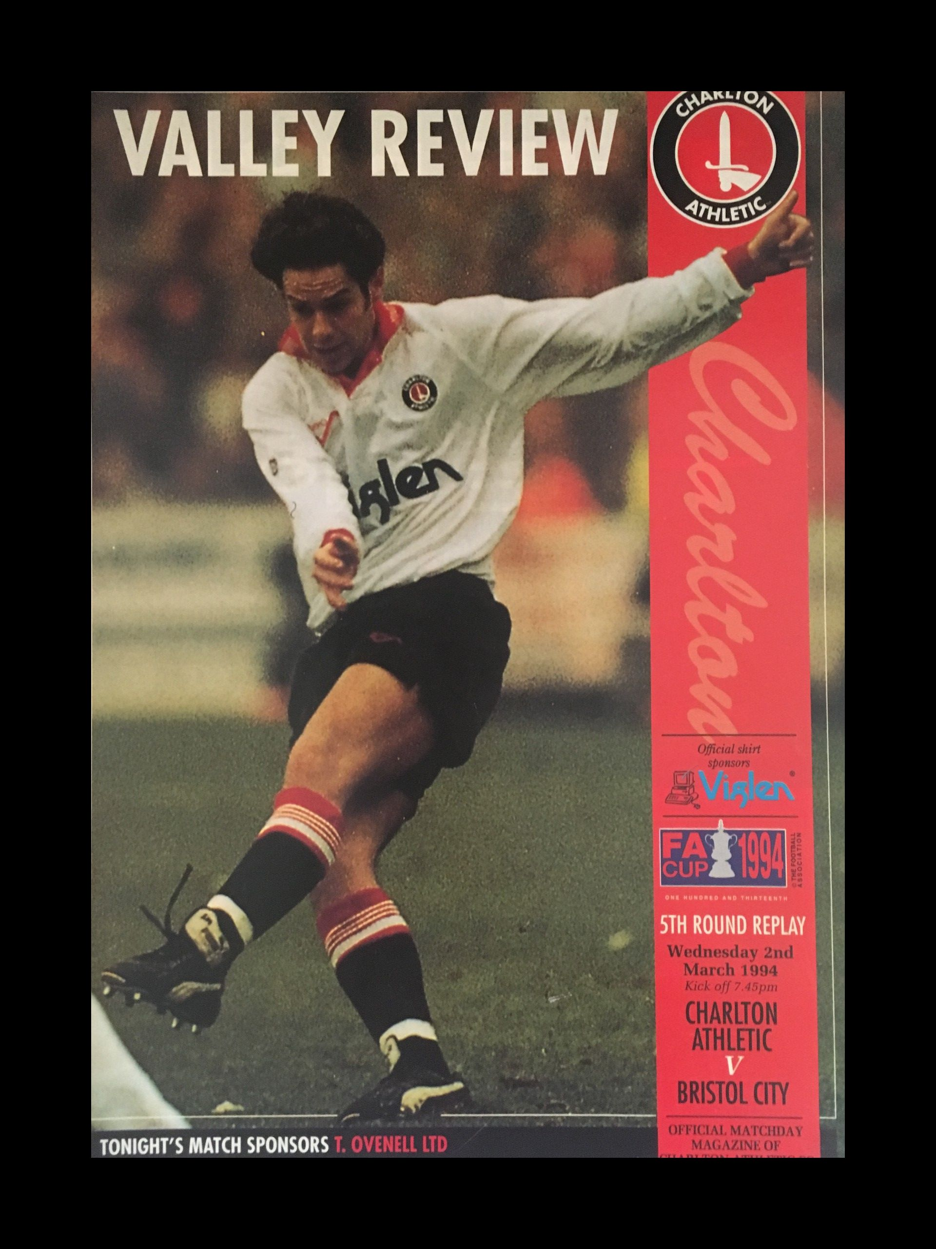 Charlton Athletic v Bristol City 02-03-1994 Programme