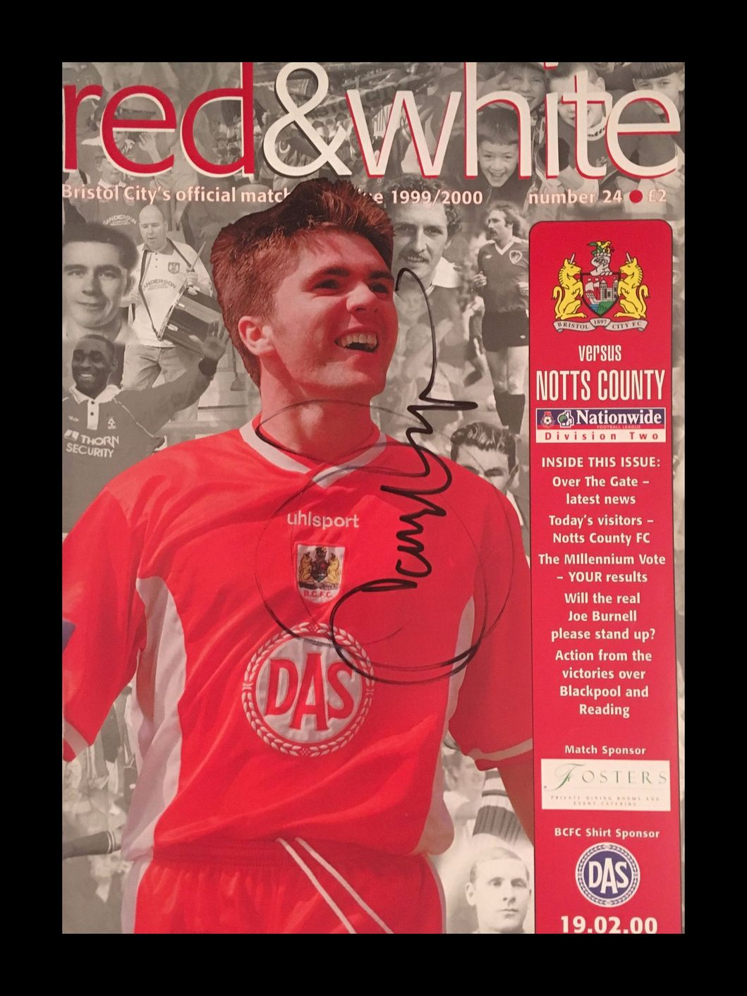 Bristol City v Notts County 19-02-2000 Programme