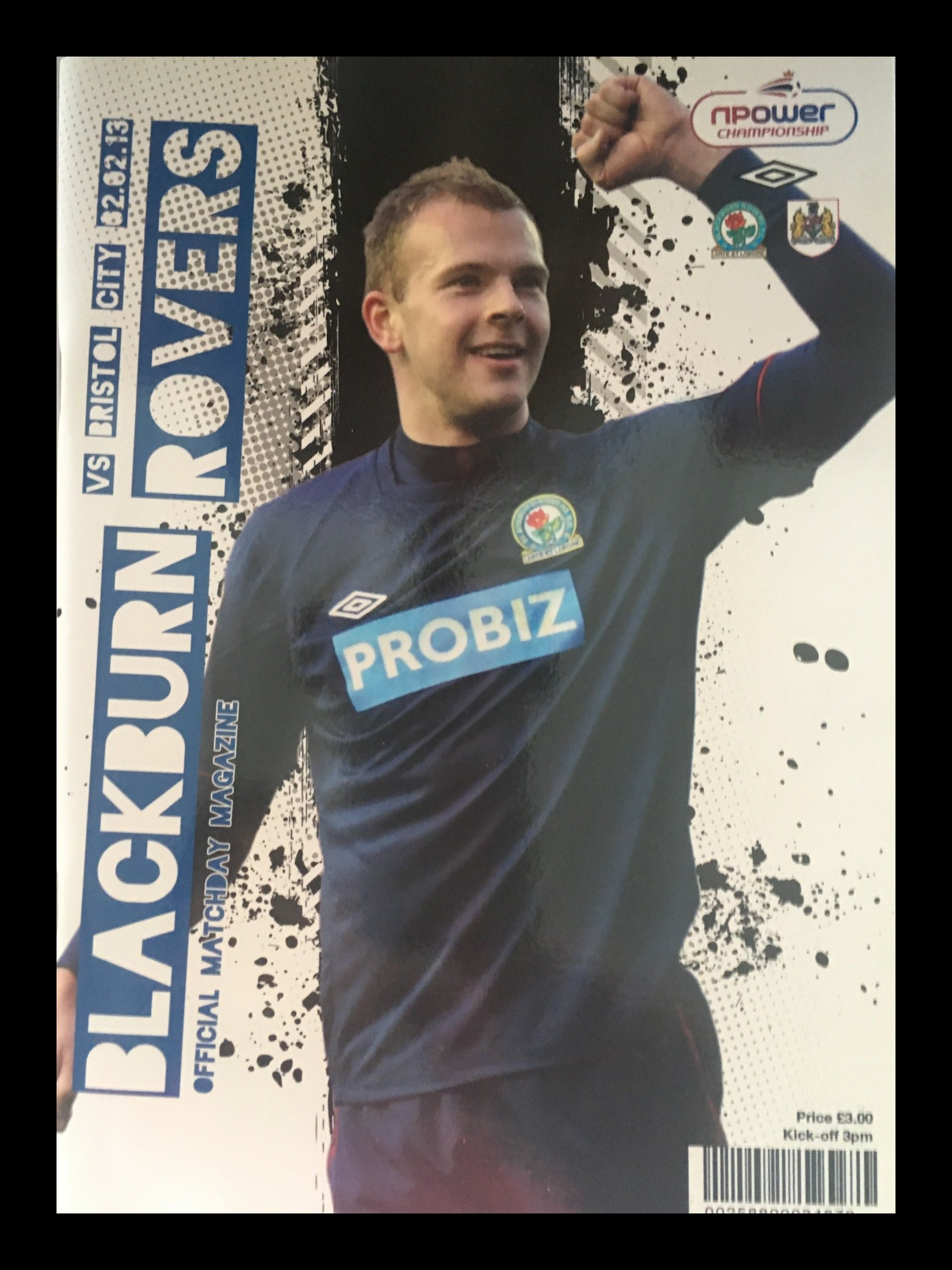 Blackburn Rovers v Bristol City 02-02-2013 Programme
