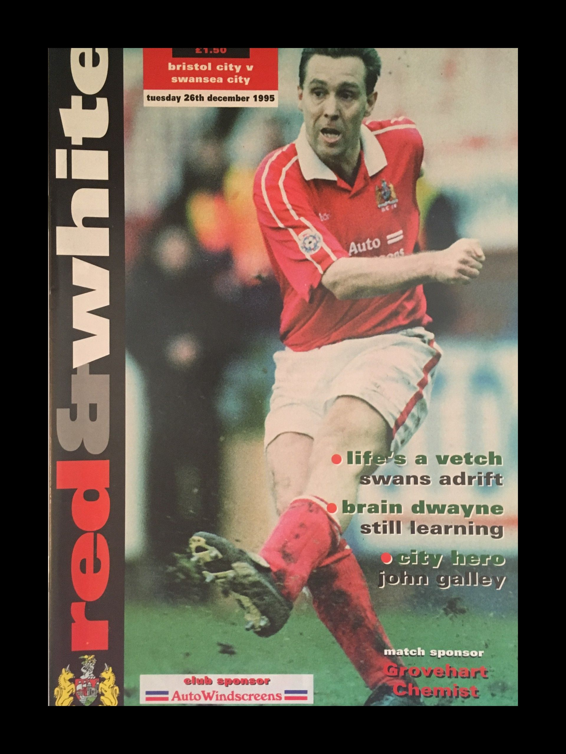Bristol City v Swansea City 26-12-1995 Programme