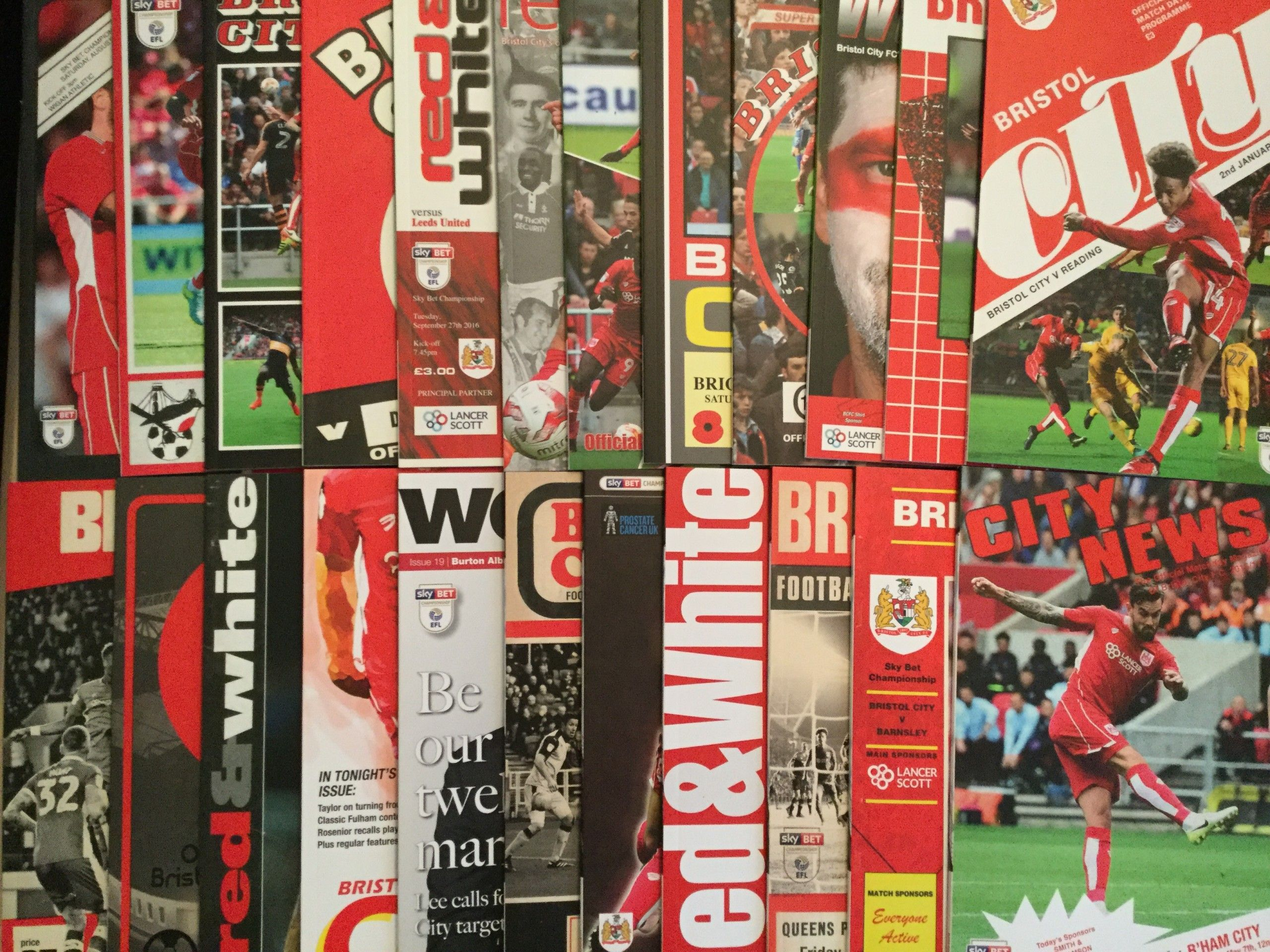 Bristol City Home League Programmes 2016-2017