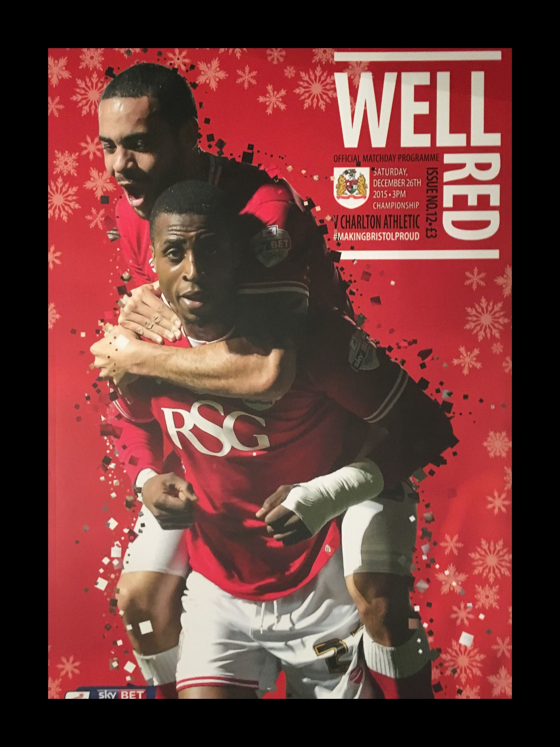 Bristol City v Charlton Athletic 26-12-2015 Programme