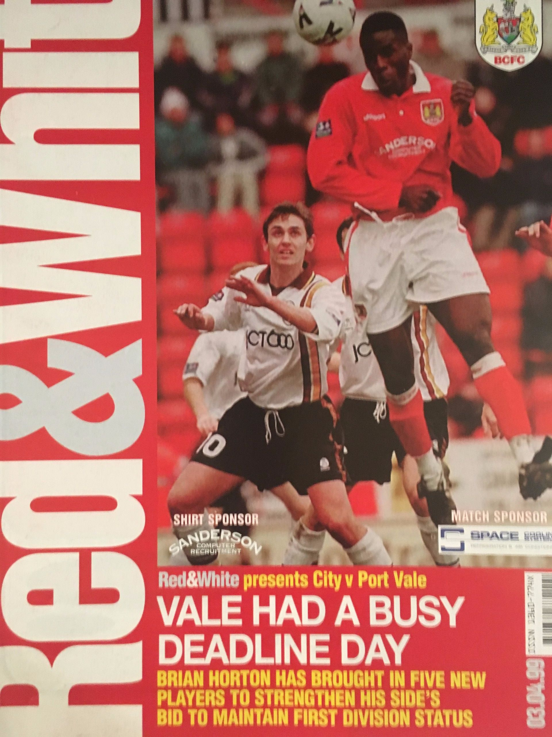 Bristol City v Port Vale 03-04-1999 Programme