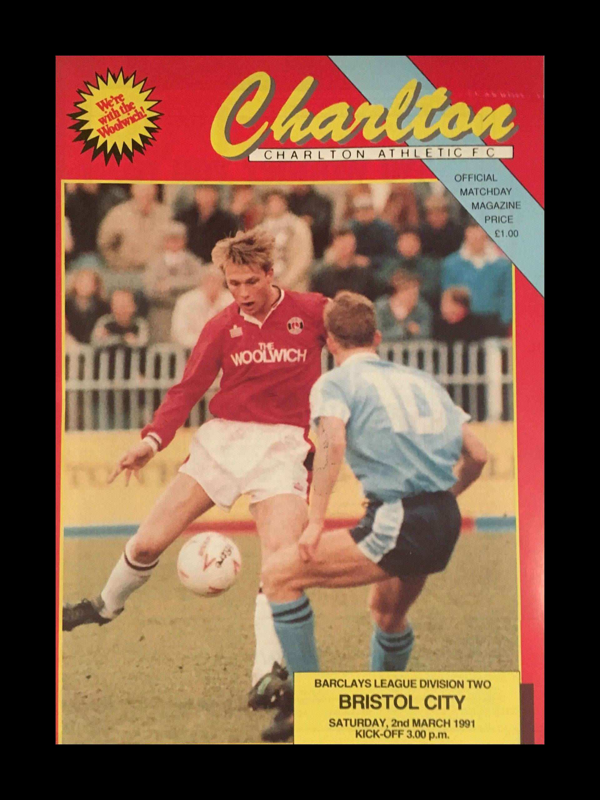 Charlton Athletic v Bristol City 02-03-1991 Programme