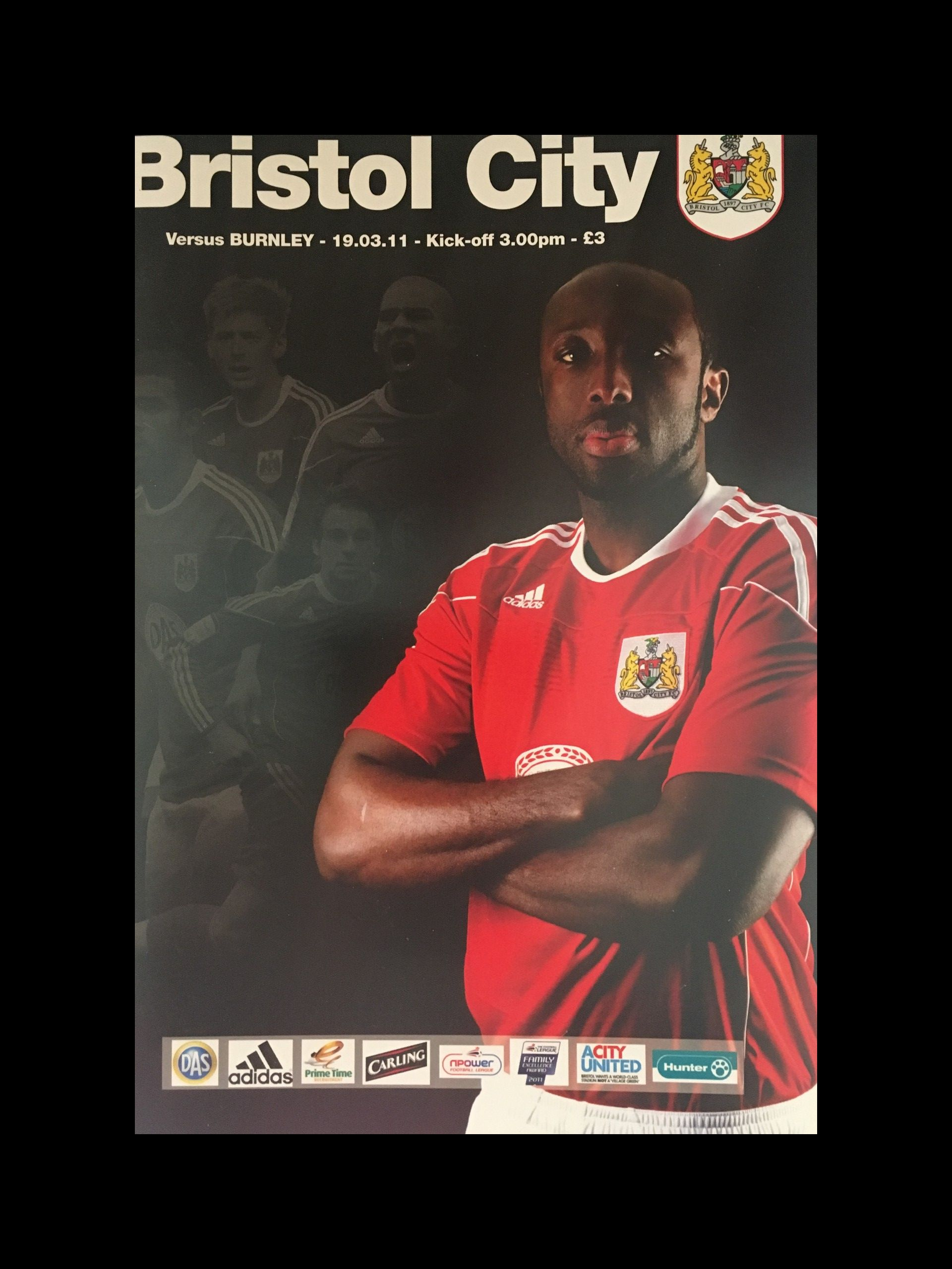 Bristol City v Burnley 19-03-2011 Programme