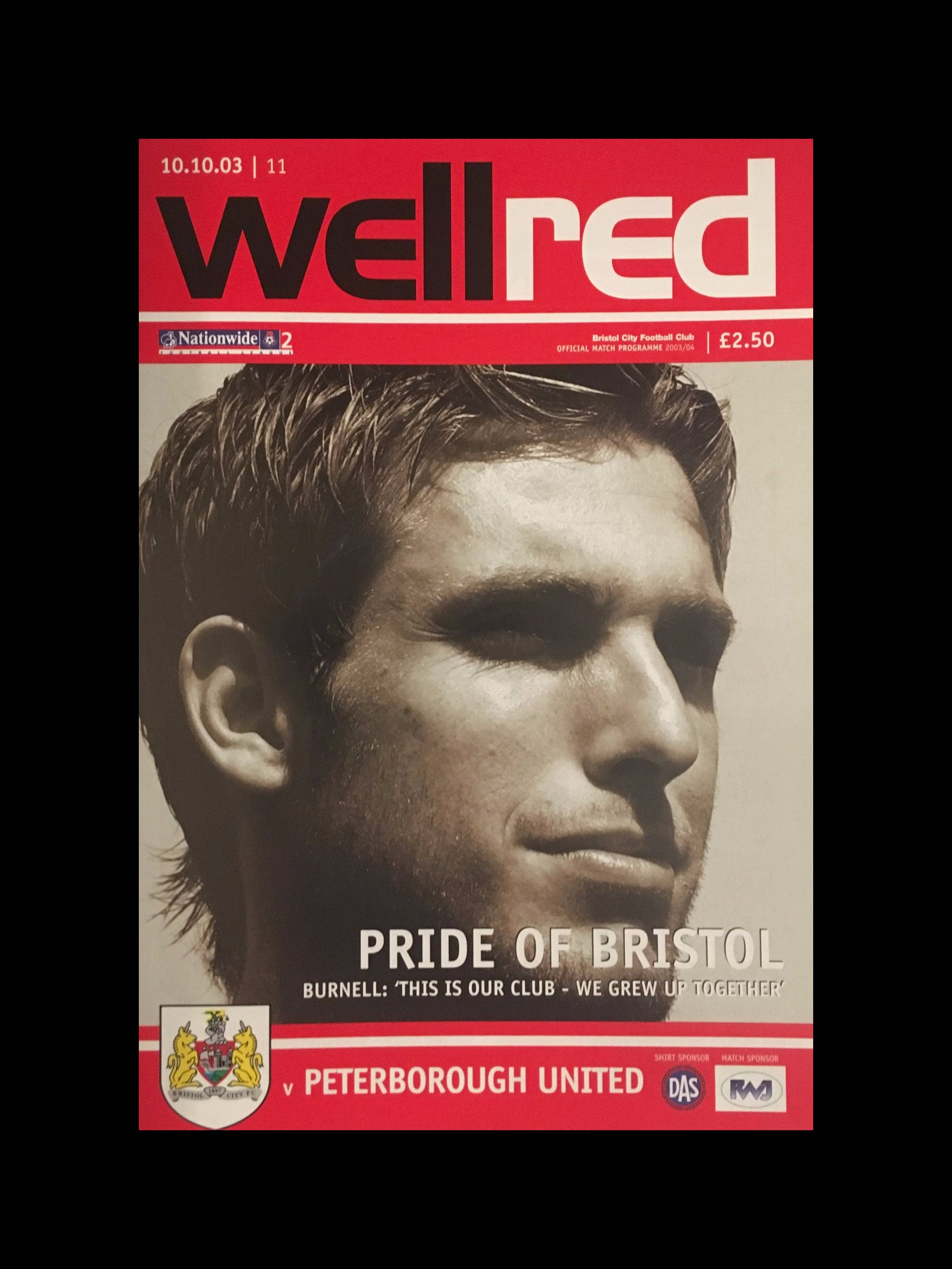 Bristol City v Peterborough United 10-10-2003 Programme