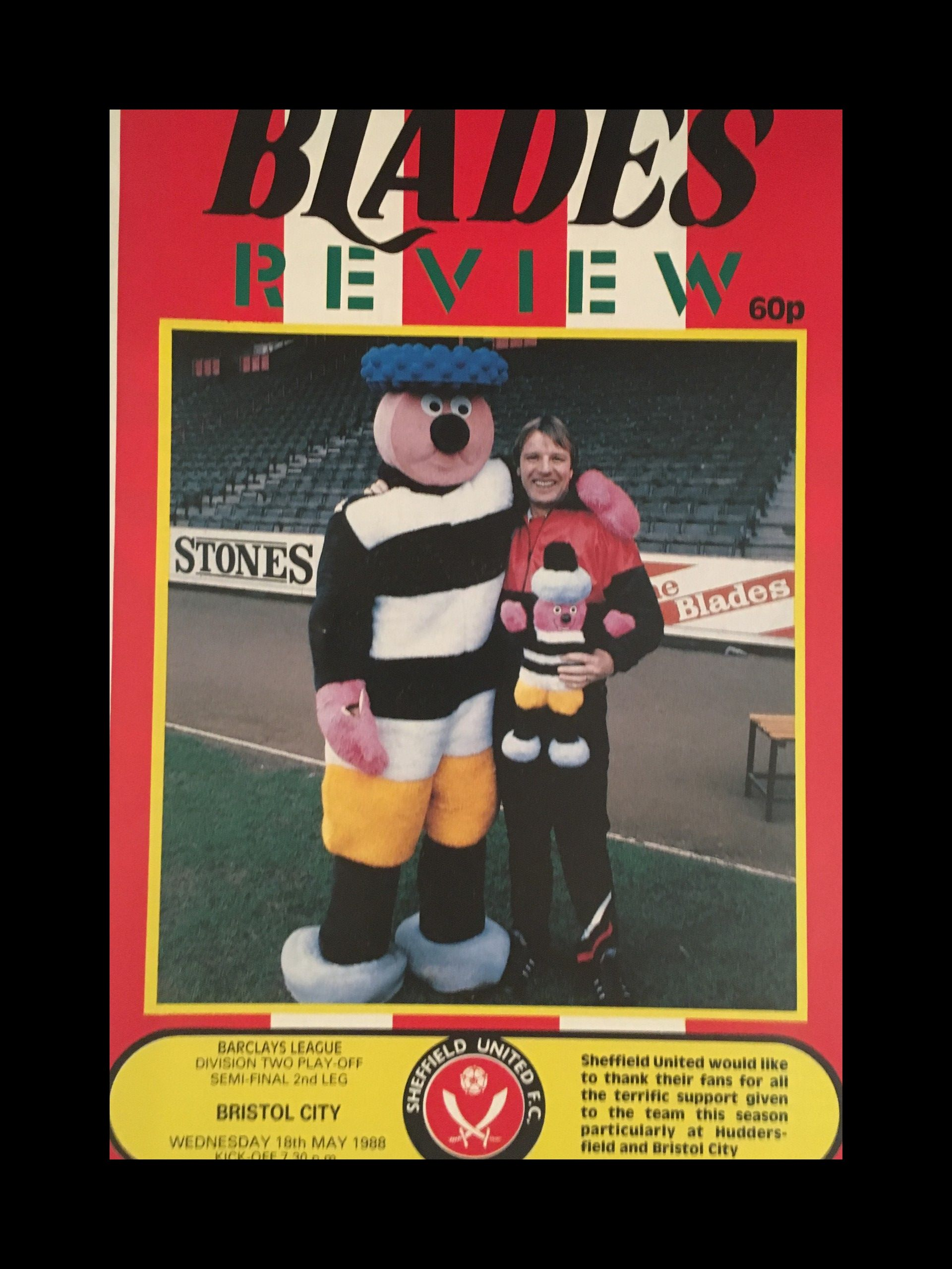 Sheffield United v Bristol City 18-05-1988 Programme